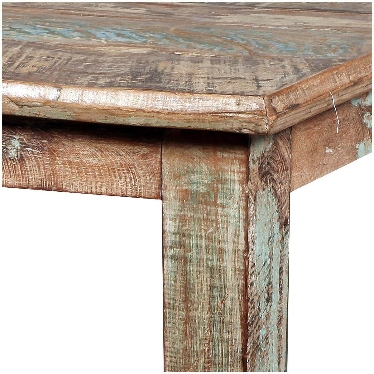 Reclaimed Wood Distressed Small Kitchen Dining Table