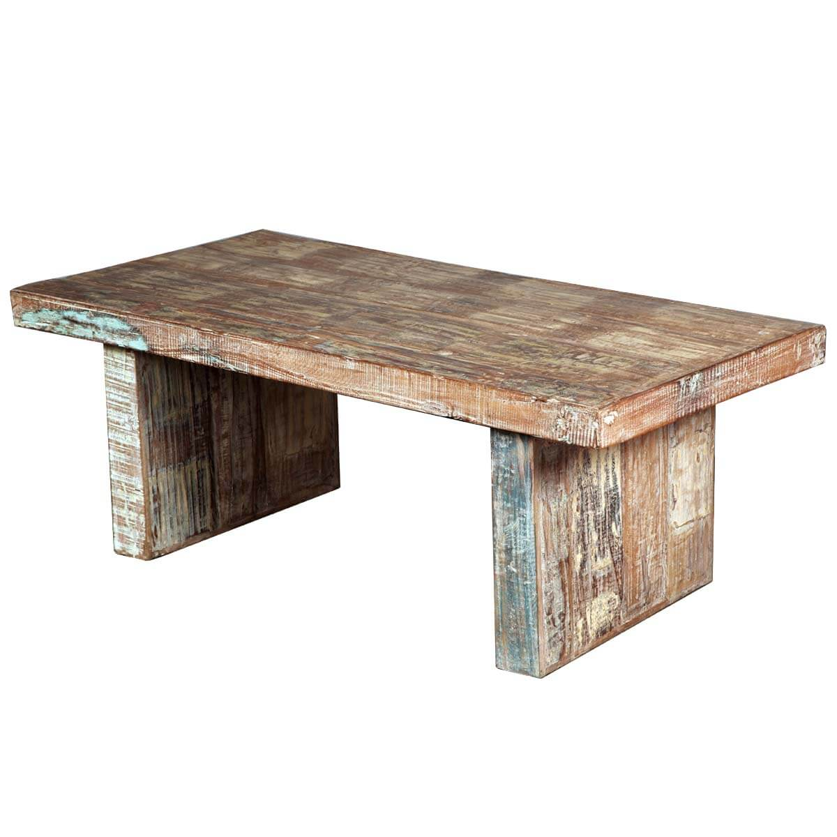 Salvaged Wood Coffee Table ~ Rustic mission reclaimed wood distressed coffee table