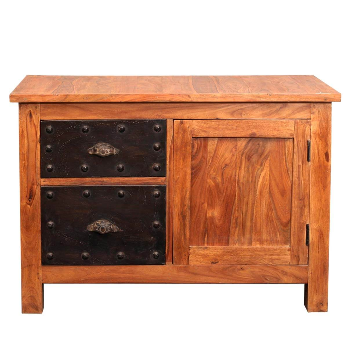 Mission Iron Reclaimed Wood Storage Buffet Cabinet Furniture