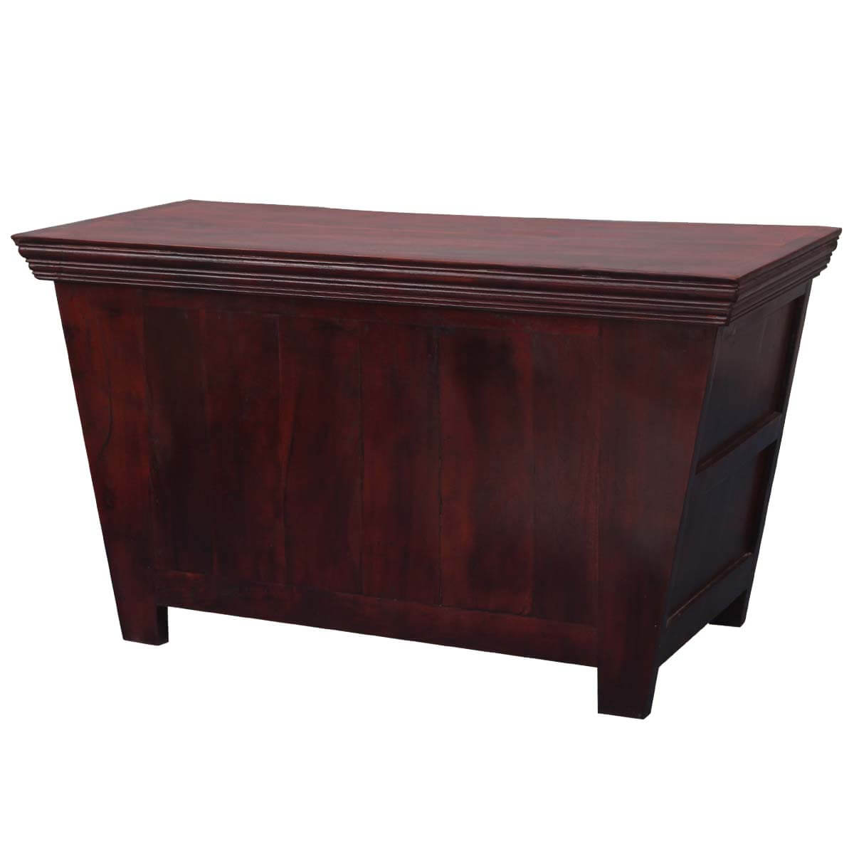 Mission russet solid wood tapered coffee table chest mission russet indian rosewood tapered coffee table chest geotapseo Choice Image