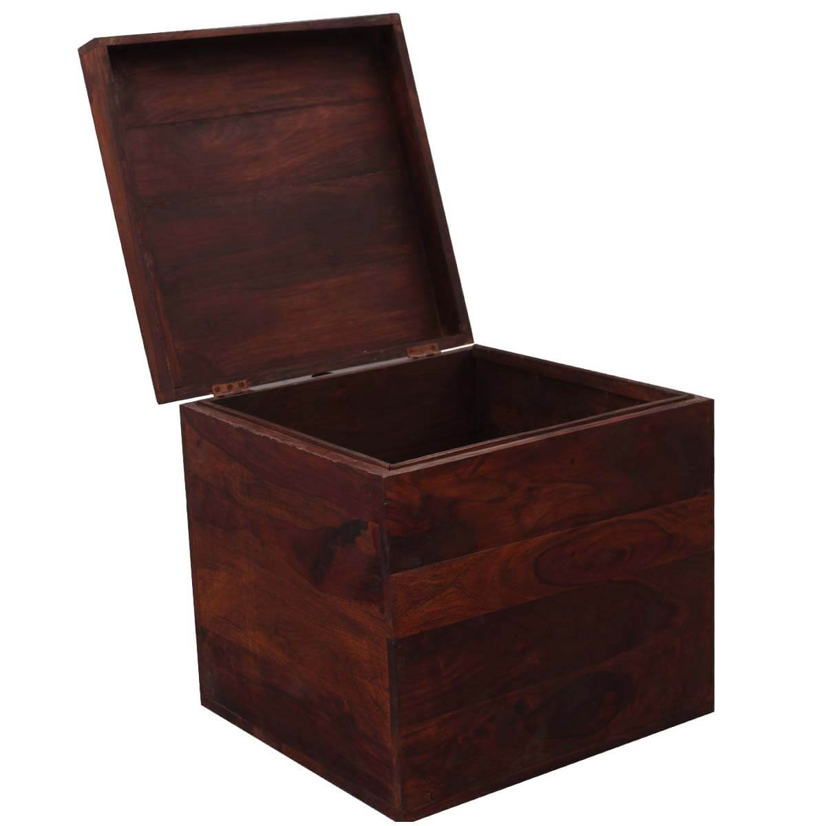 Santa Fe 18 Quot Cube Solid Wood Storage Box End Table