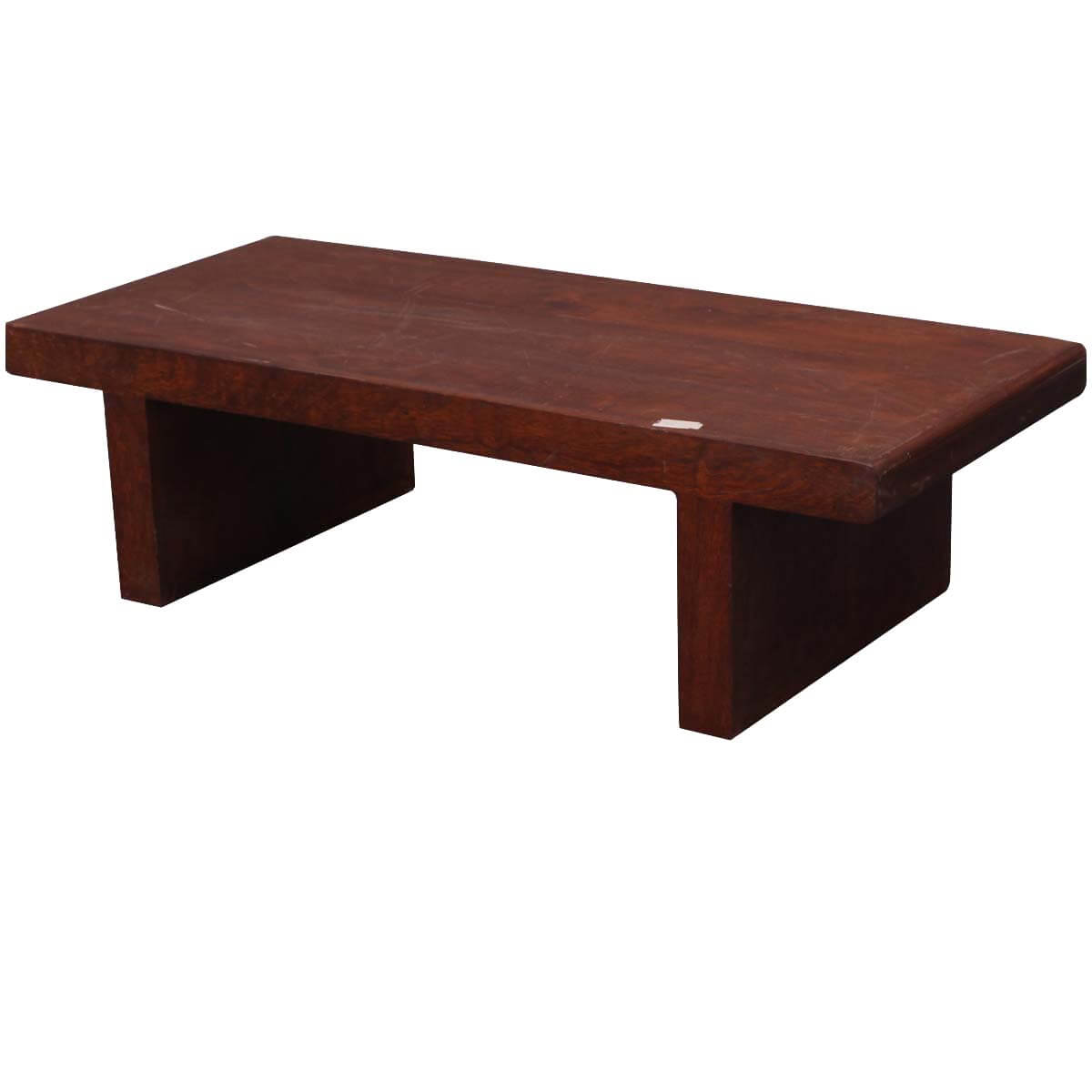 Parson 39 s bench solid wood coffee table for Solid wood coffee table