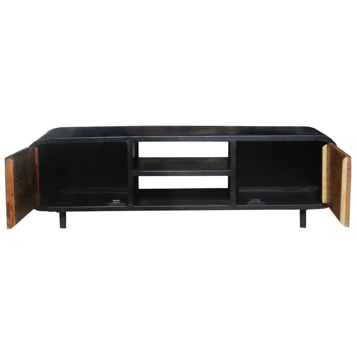 Reclaimed Media Cabinet Retro Reclaimed Wood Iron Media Cabinet Tv Stand