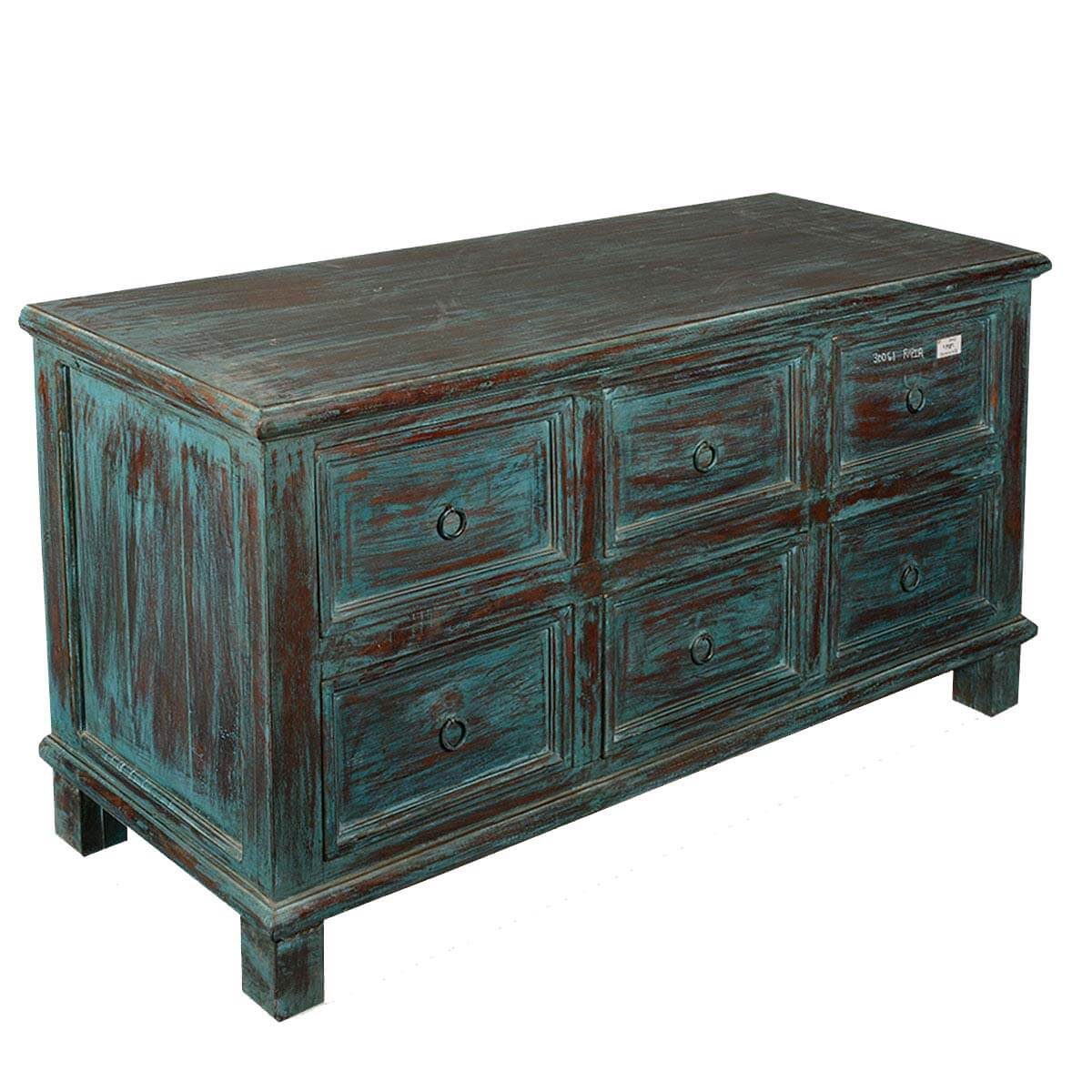 appalachian rustic reclaimed wood 6 drawer dresser