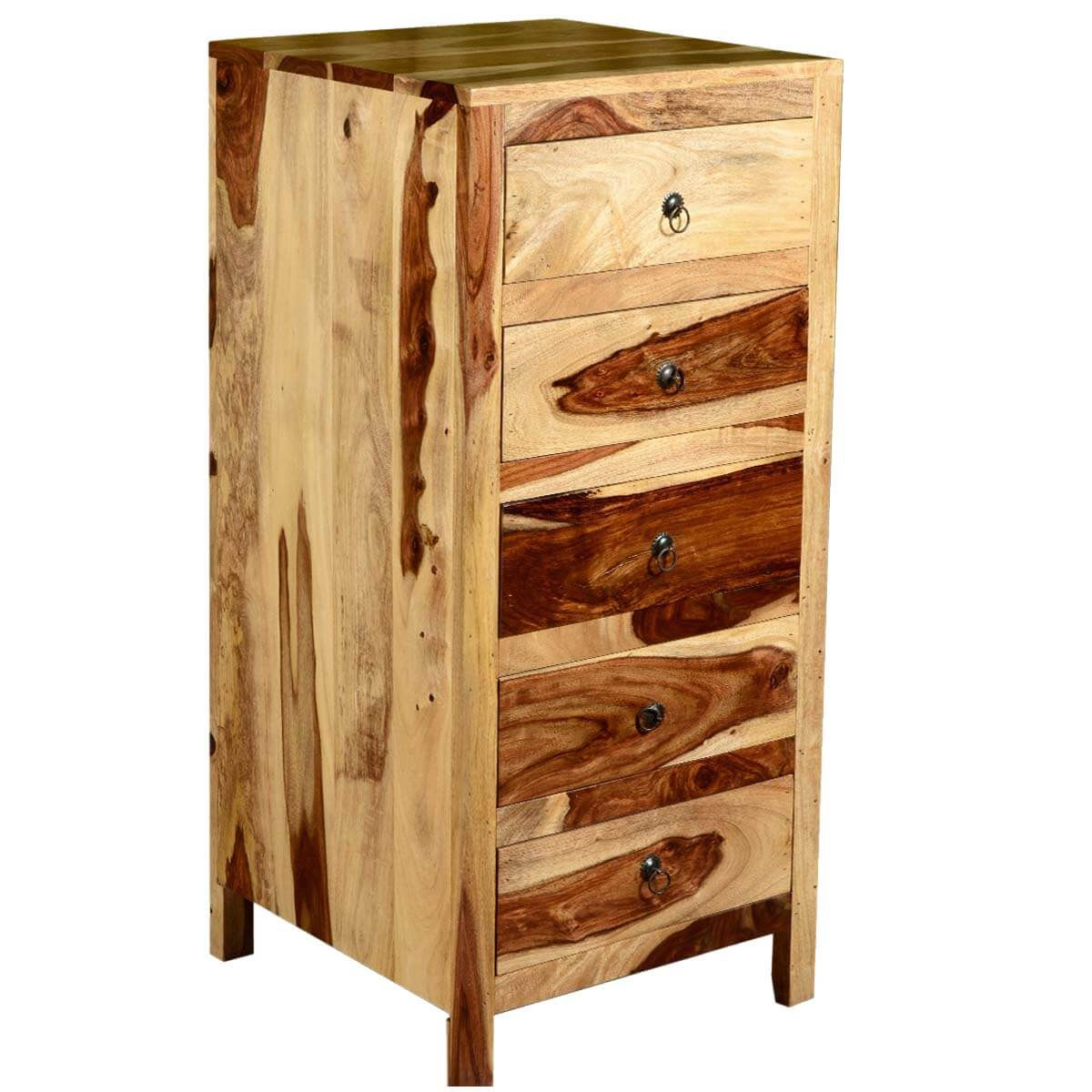 Cheap Modern Furniture Dallas: Dallas Ranch Solid Wood Contemporary 5 Drawer Tower Dresser