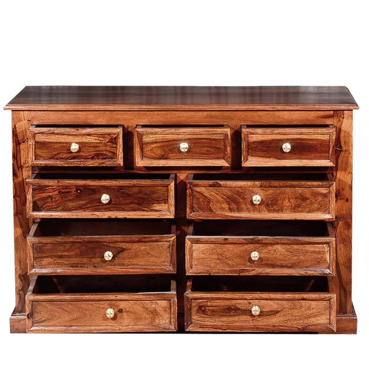 shaker classic solid wood 9 drawer dresser. Black Bedroom Furniture Sets. Home Design Ideas