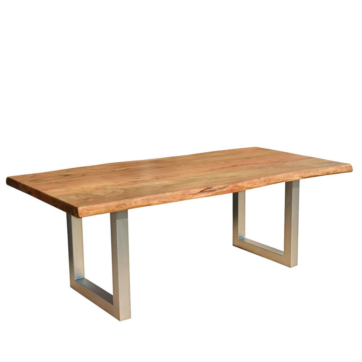 Hankin Wood   Iron Base Live Edge Dining Table. Custom Made Large Rustic Dining Tables