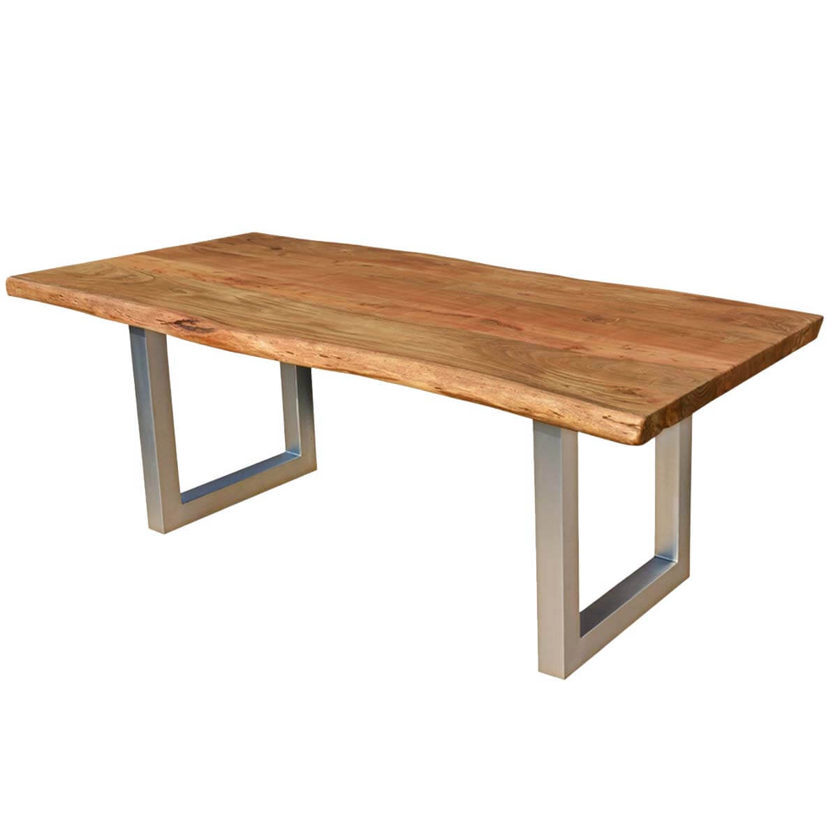 Hankin Wood Iron Base Live Edge Dining Table