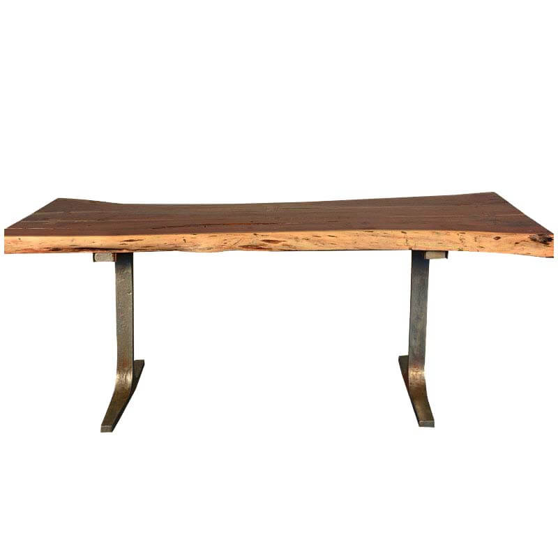 Rustic Live Edge Solid wood Industrial Dining Table with  : 51691 from www.sierralivingconcepts.com size 800 x 800 jpeg 37kB