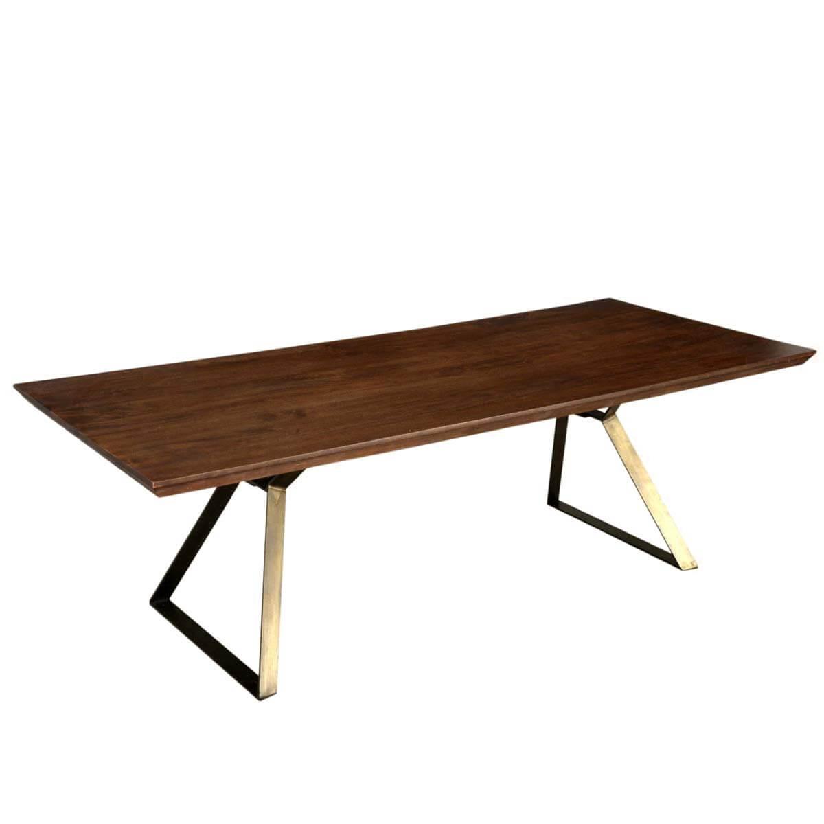 Hankin Industrial Factory Loft Style Wood Iron Dining Table