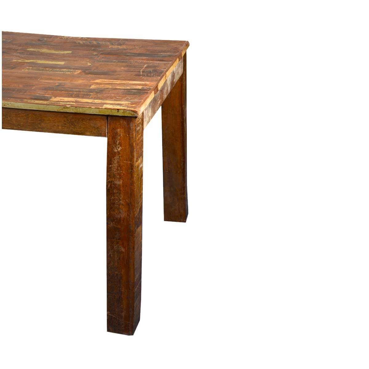 Rustic Parquet Top Reclaimed Wood Dining Table : 52584 from www.sierralivingconcepts.com size 1200 x 1200 jpeg 74kB