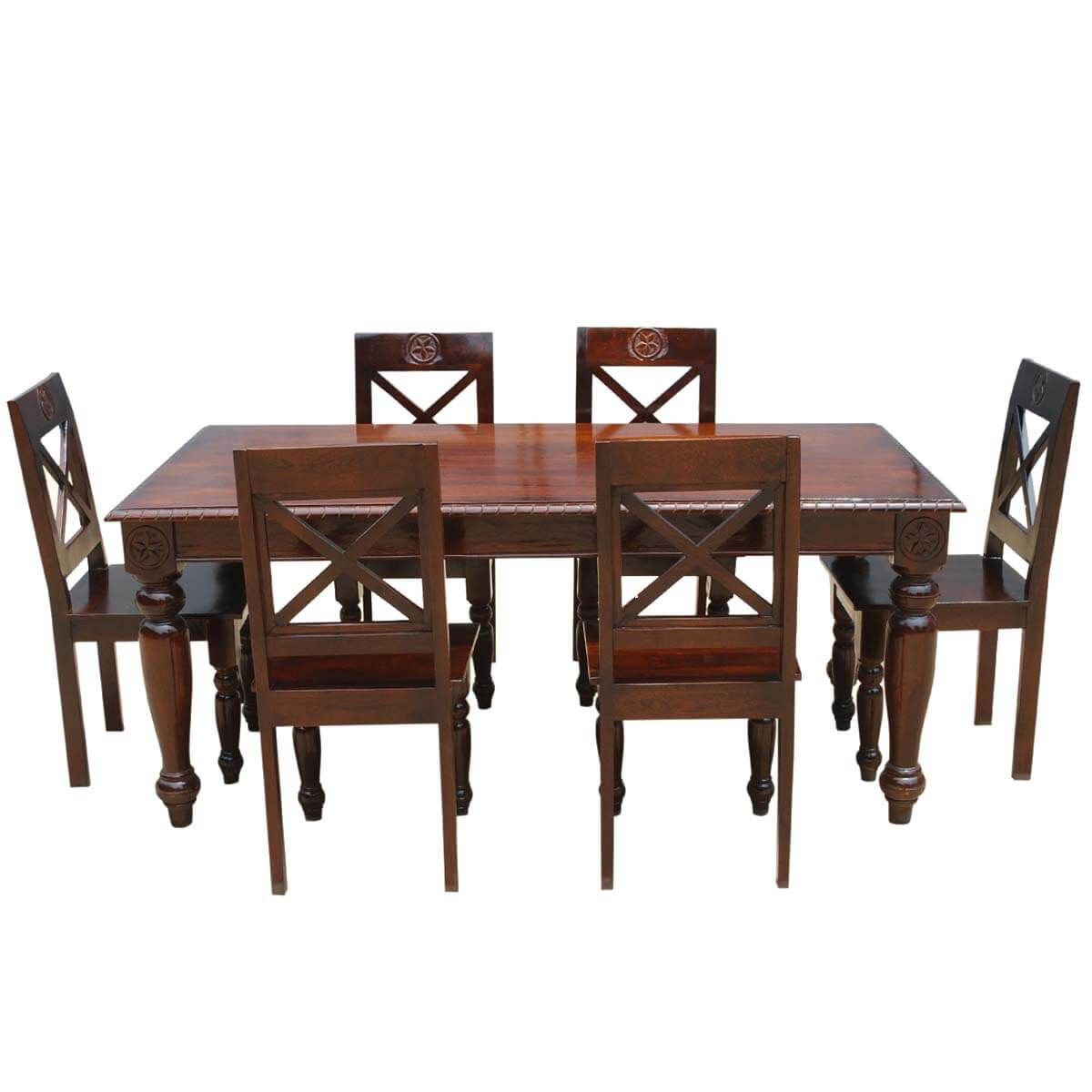 Rustic Dining Table And Chairs: Texas Rustic Dining Table And Chairs Set