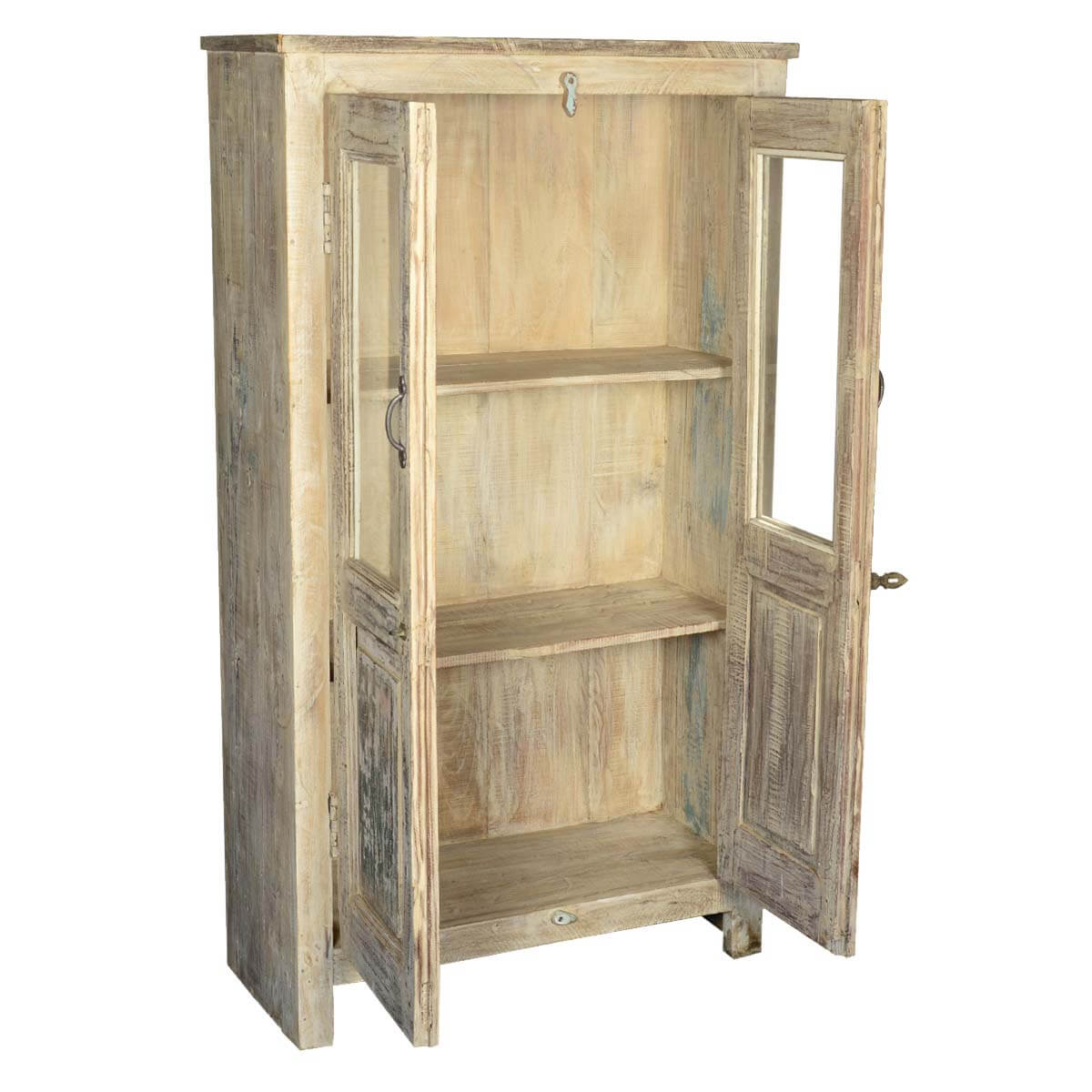 tall wood storage cabinets with doors and shelves 2 door reclaimed wood storage cabinet 27084