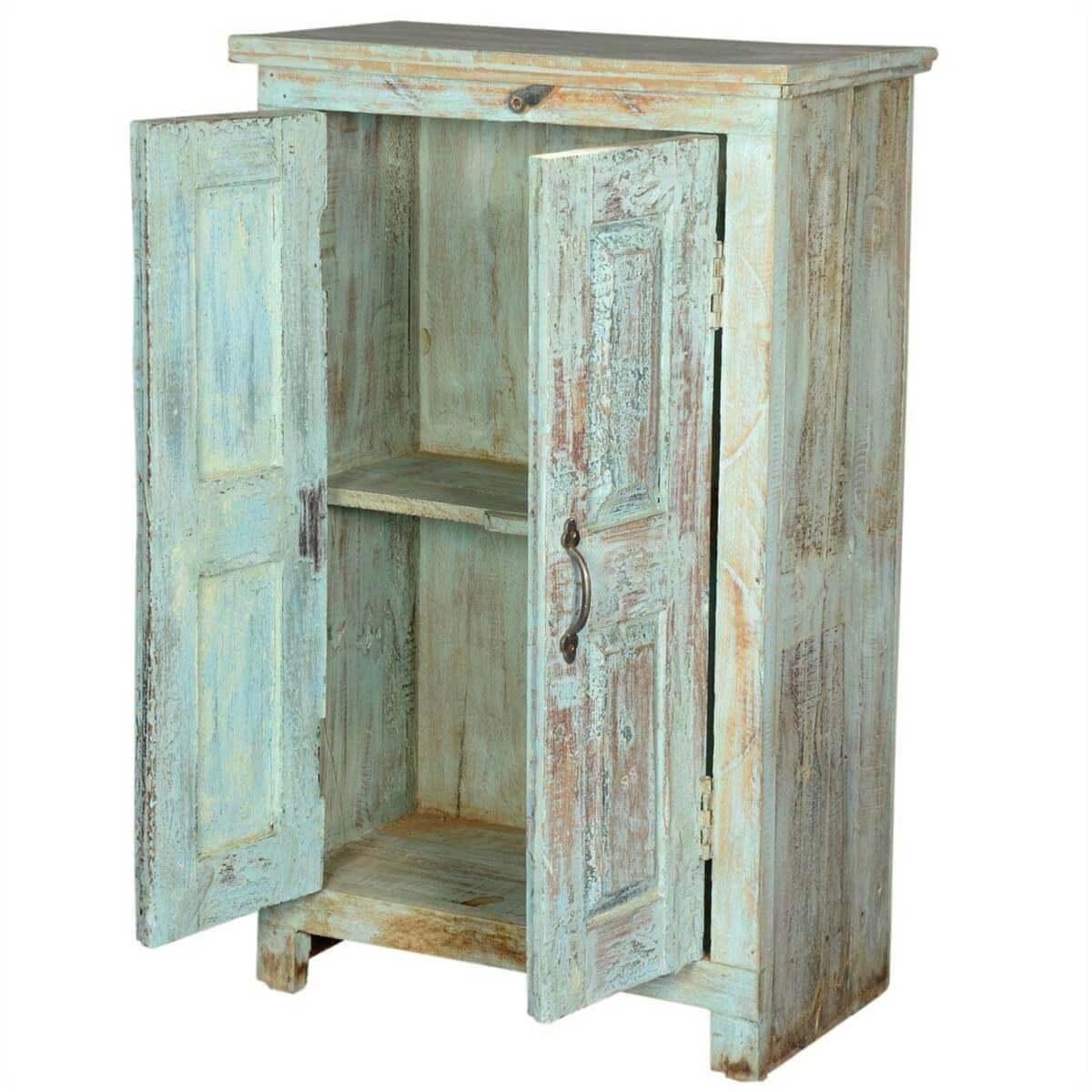 Distressed Kitchen Cabinet Doors: Bankston Distressed Reclaimed Wood 2 Door Storage Cabinet