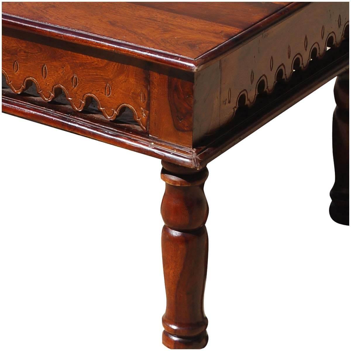 Oklahoma farmhouse solid wood hand carved coffee table oklahoma farmhouse indian rosewood hand carved coffee table geotapseo Choice Image