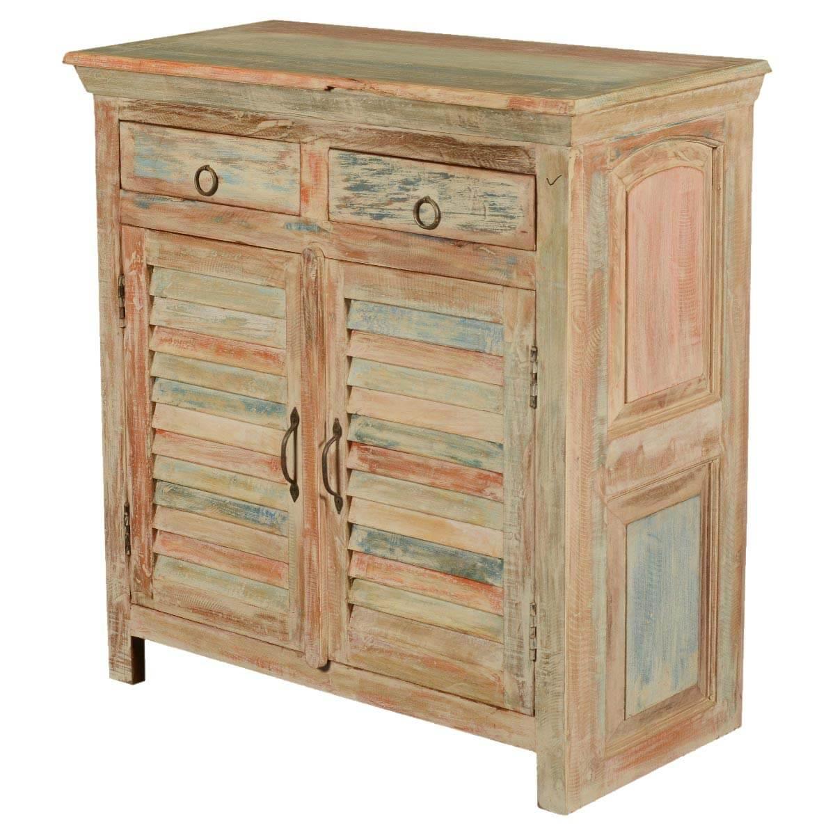 Deltona Reclaimed Wood Shutter Door 2 Drawer Storage Cabinet