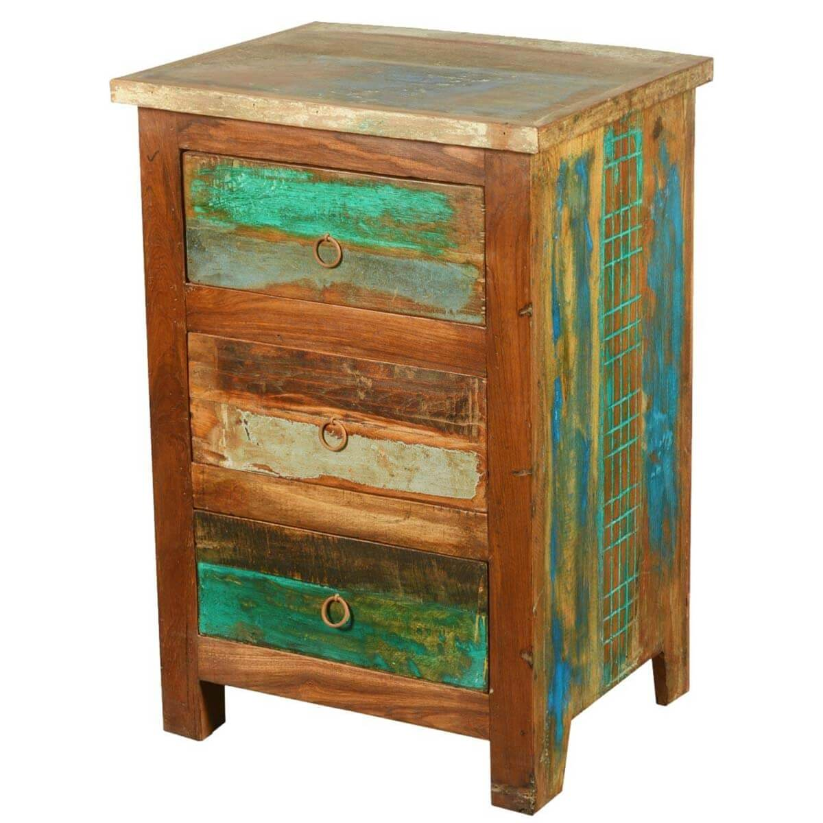 paint box reclaimed wood mini chest of drawers. Black Bedroom Furniture Sets. Home Design Ideas