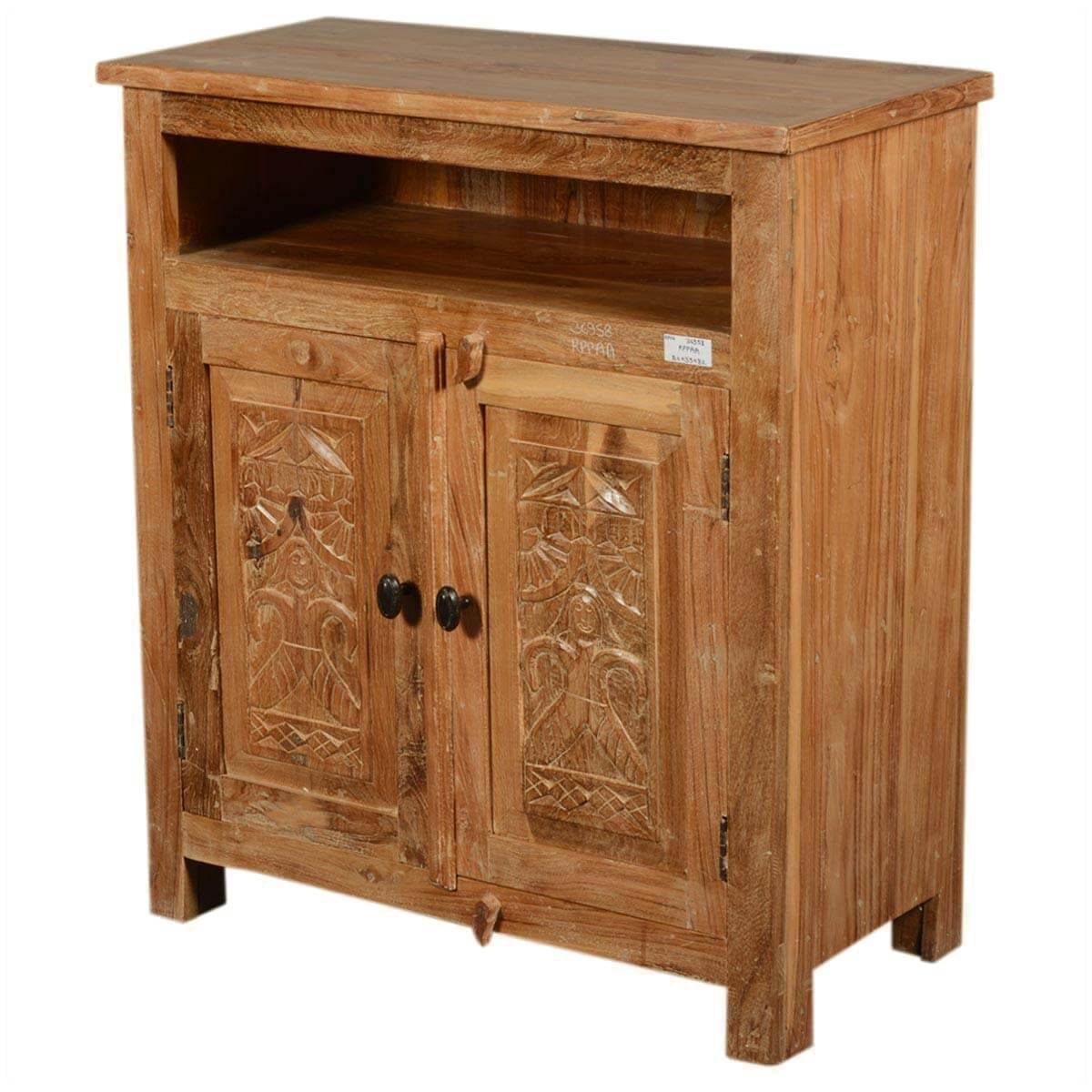 hand carved mango wood salvatore storage cabinet with open dining room corner storage cabinets Living Room Storage Cabinets