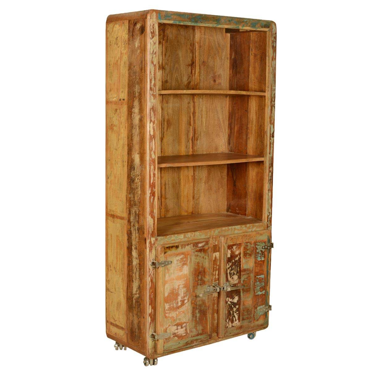 Recycled Wood Bookcase ~ Reclaimed wood industrial style hand crafted shelf
