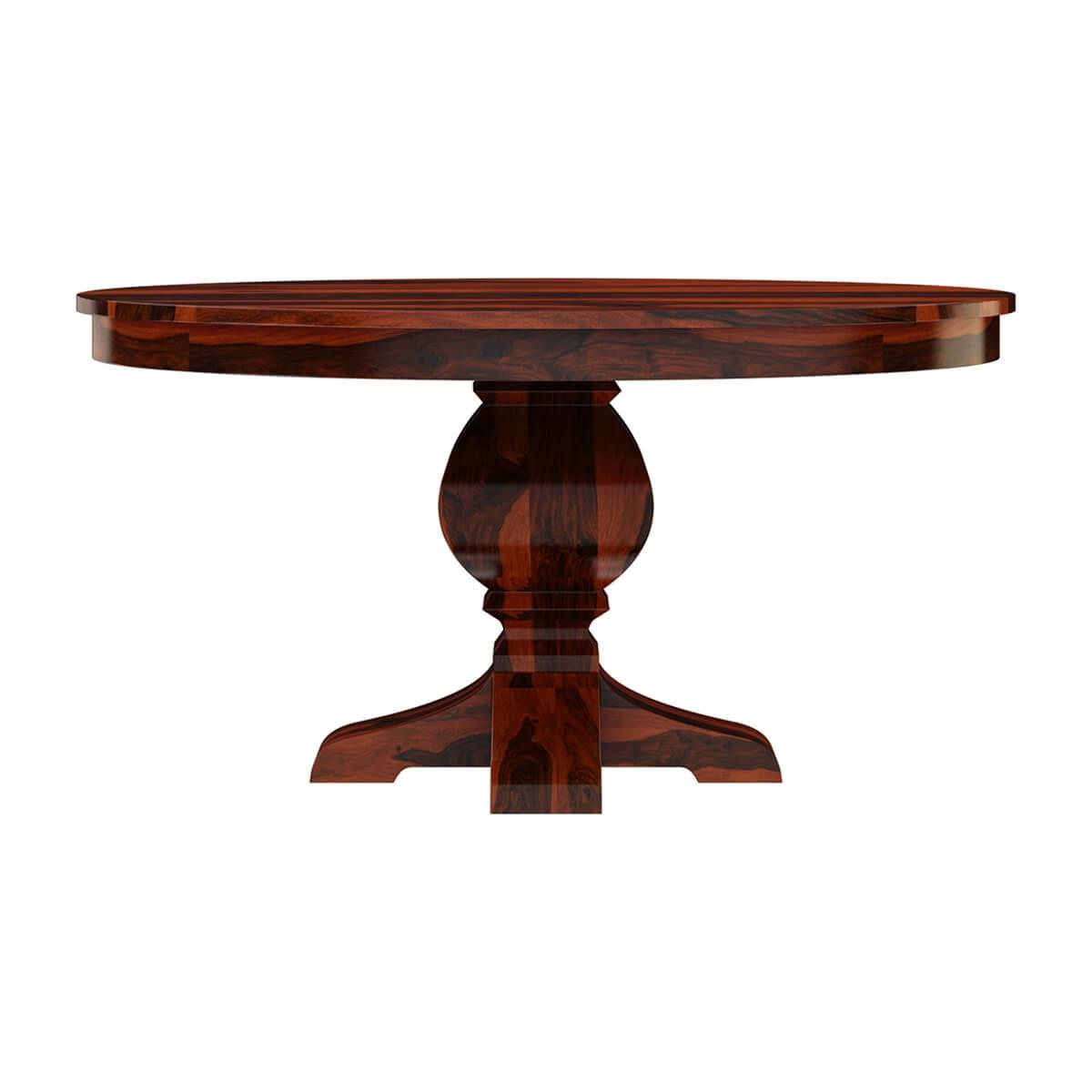 Missouri 60 solid wood round pedestal dining table Pedestal dining table