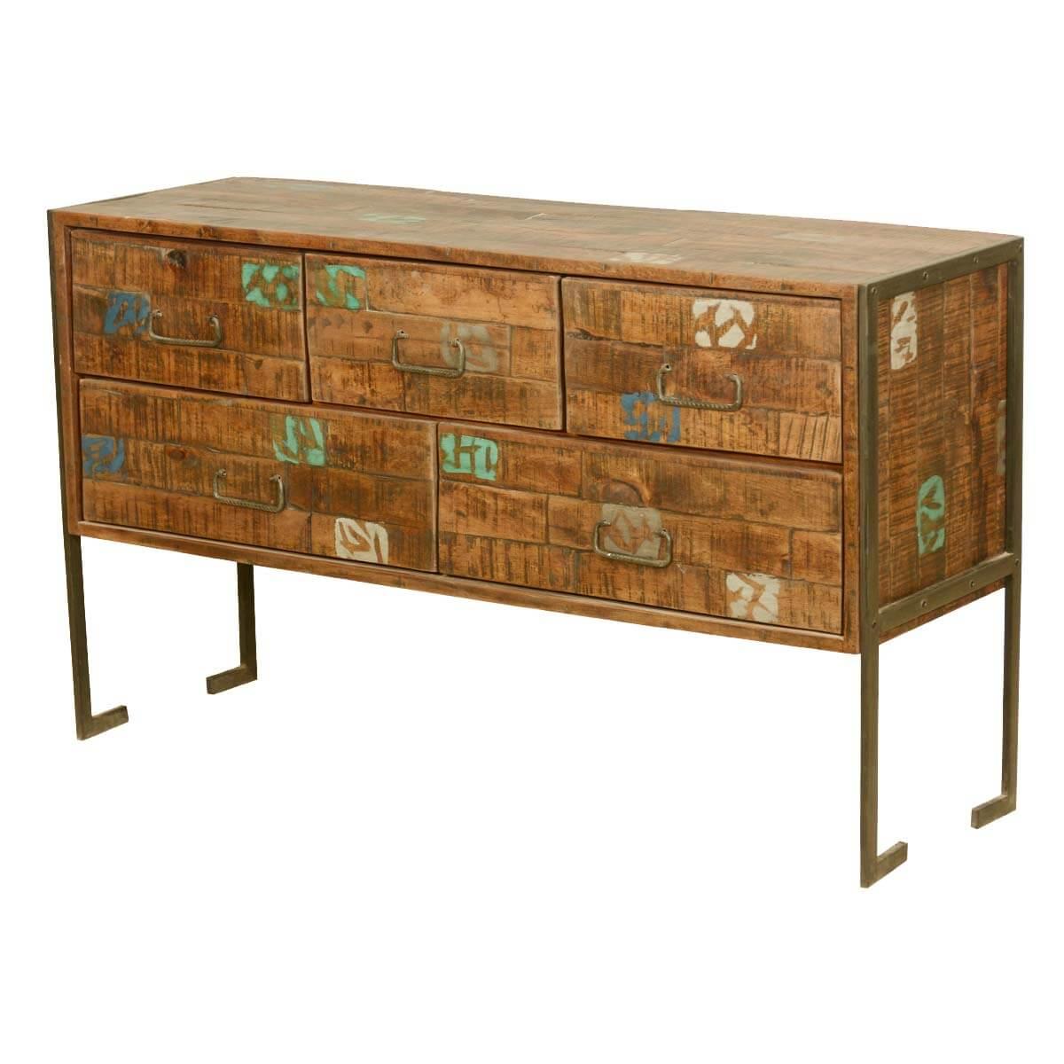 mesa industrial reclaimed wood standard horizontal dresser