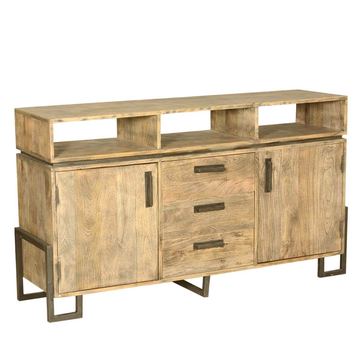 storage in kitchen cabinets rustic industrial solid wood storage buffet sideboard w 3 5876