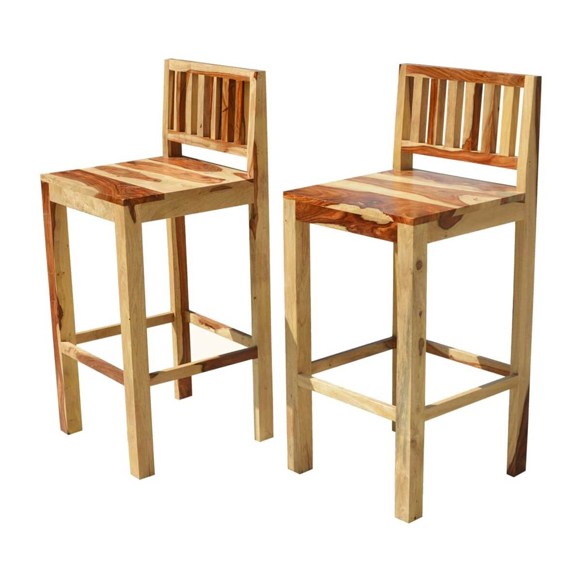 dallas ranch solid wood tall counter low back bar chairs set of 2. Black Bedroom Furniture Sets. Home Design Ideas