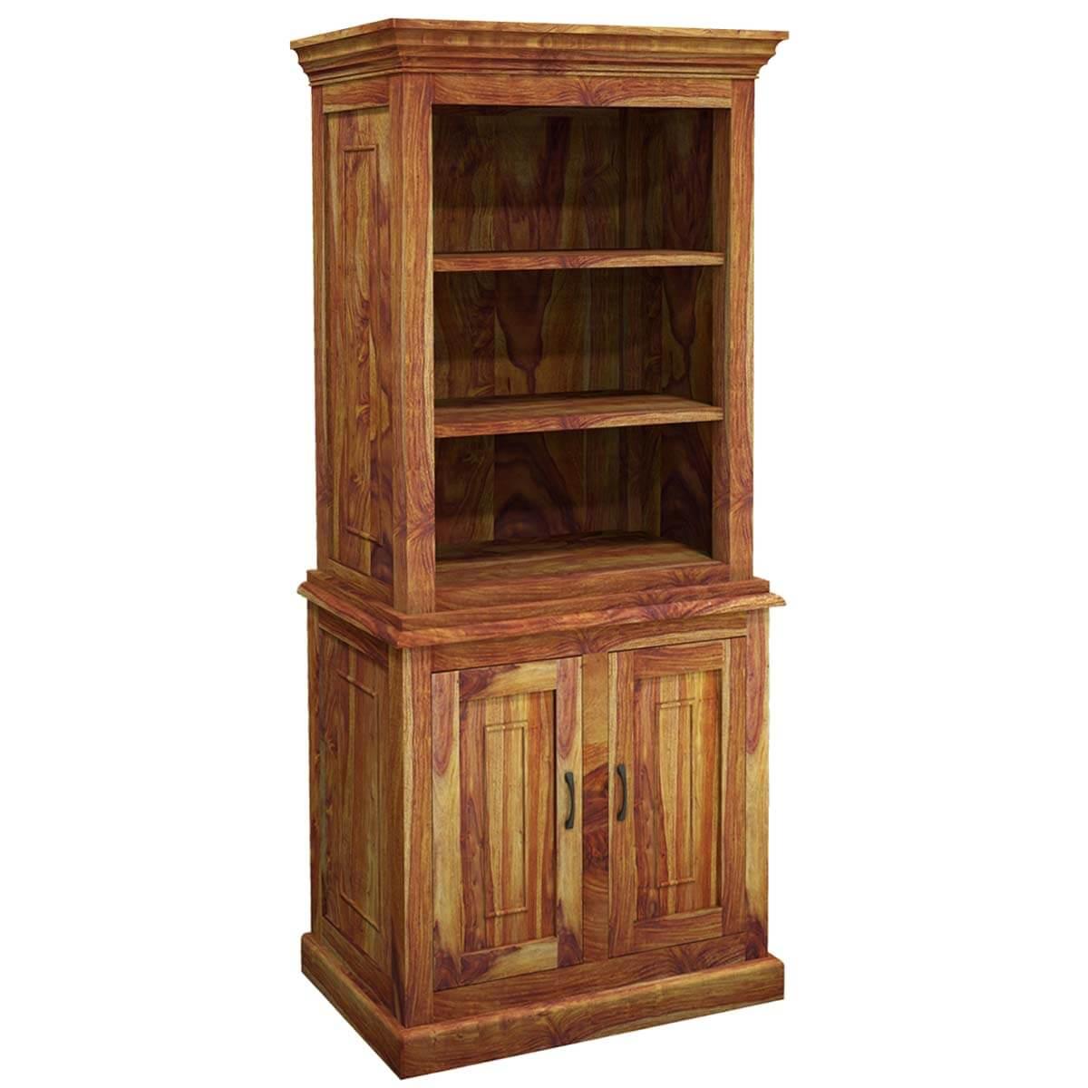 Wood Storage Cabinets: Idaho Modern Solid Wood Standard Bookcase Storage Cabinet