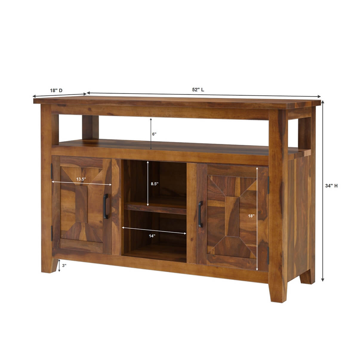 Nevada Traditional Solid Wood Buffet Server