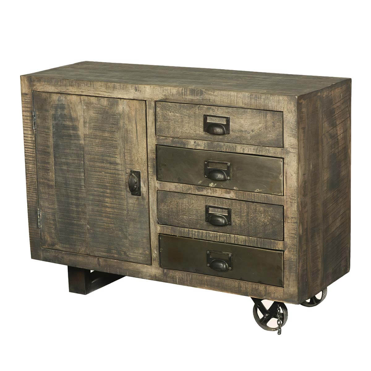 drawers cart rolling picture s trolley p of wheels w homcom cabinet storage microwave with kitchen organize