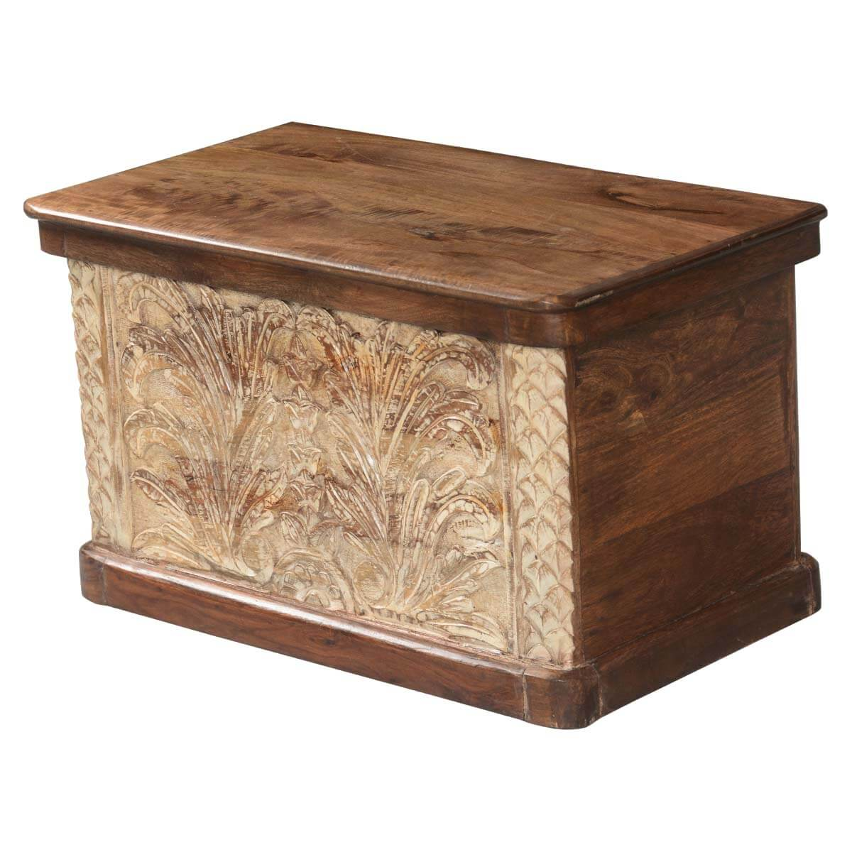 Winter Ferns Solid Acacia Wood Coffee Table Storage Chest. Ferns Solid Acacia Wood Coffee Table Storage Chest