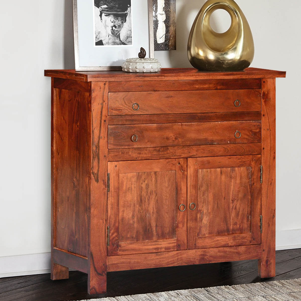 Wood Buffet Cabinet ~ Mission classic acacia wood buffet sideboard cabinet