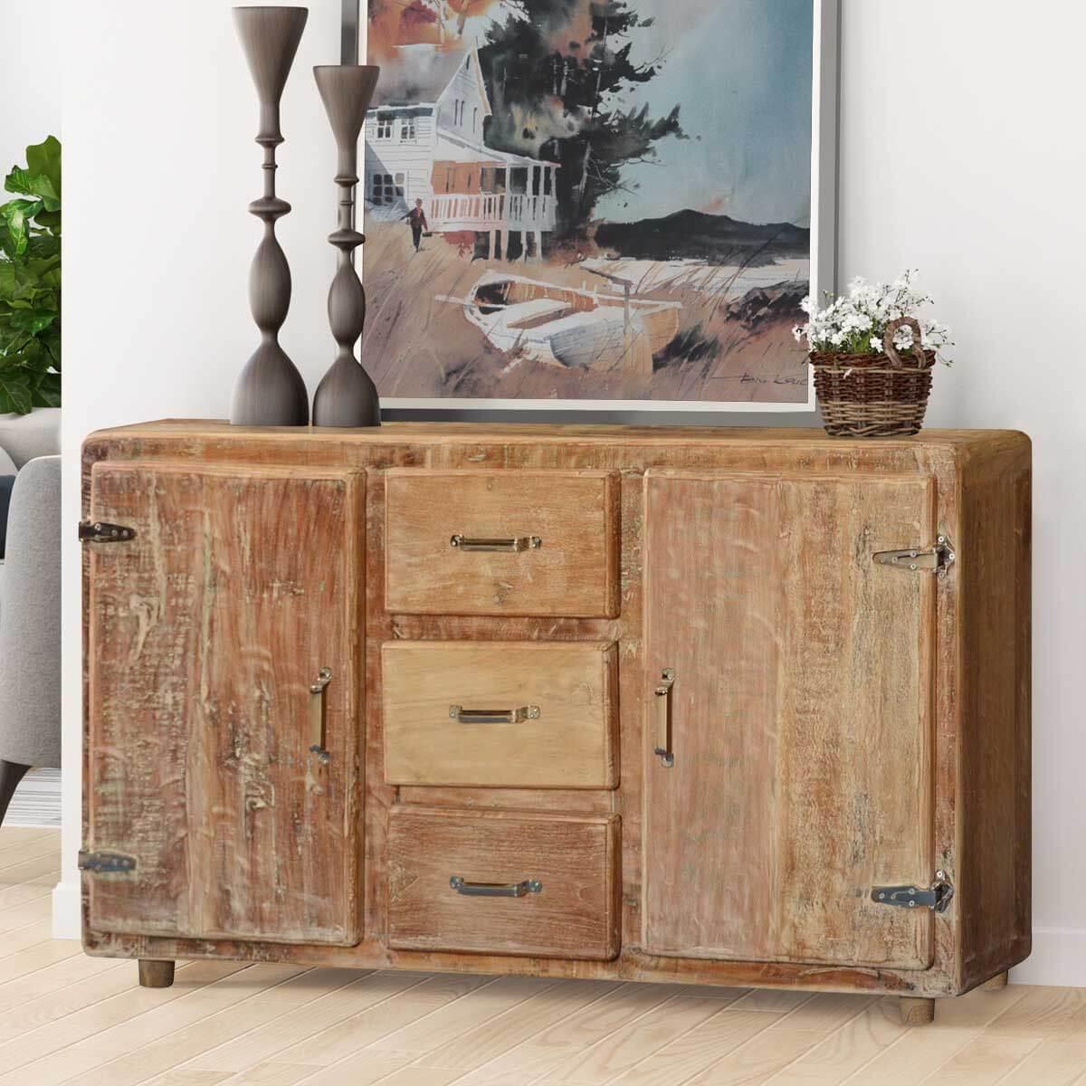 Corners Reclaimed Wood Rustic Storage Buffet Cabinet