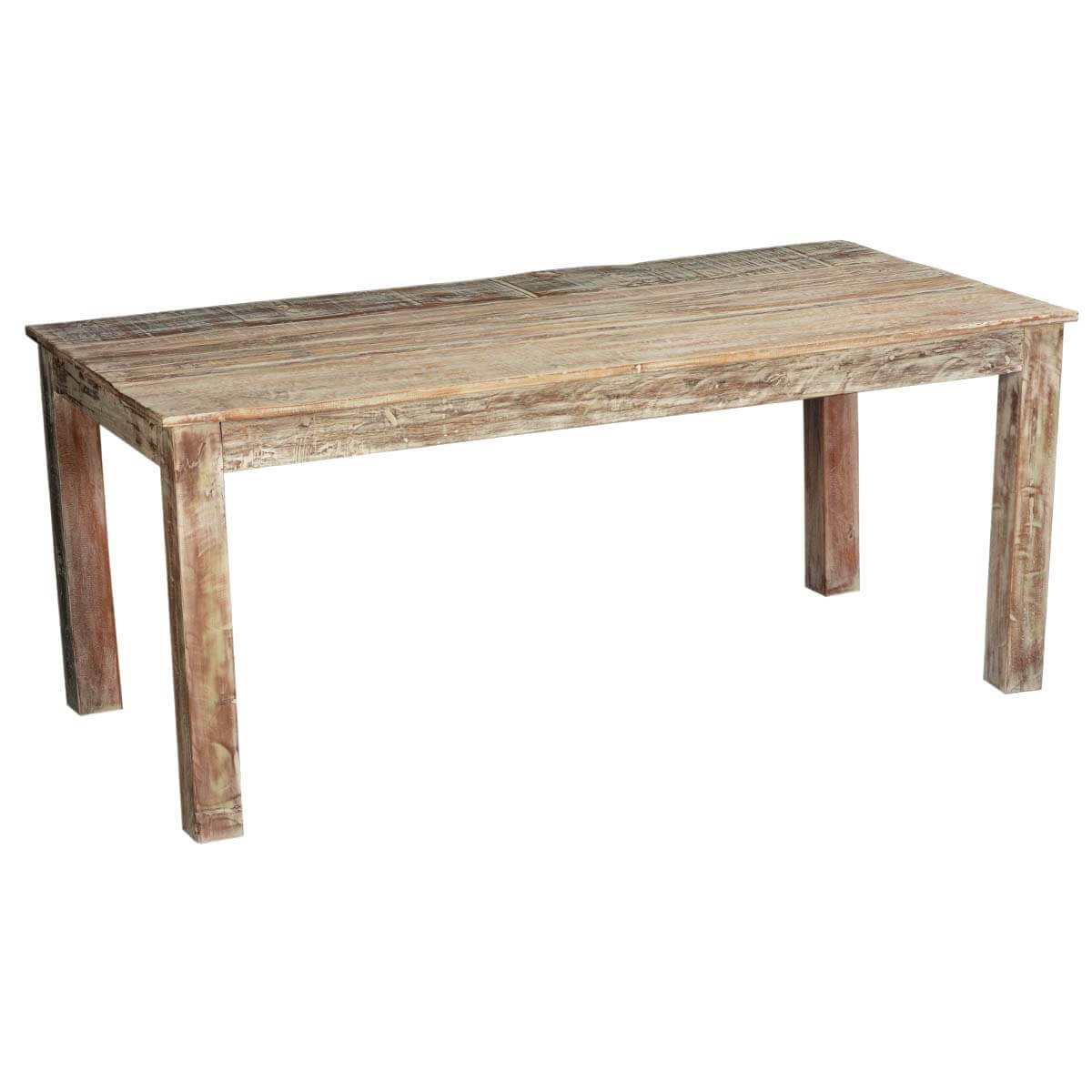 Rustic reclaimed wood texas distressed dining table