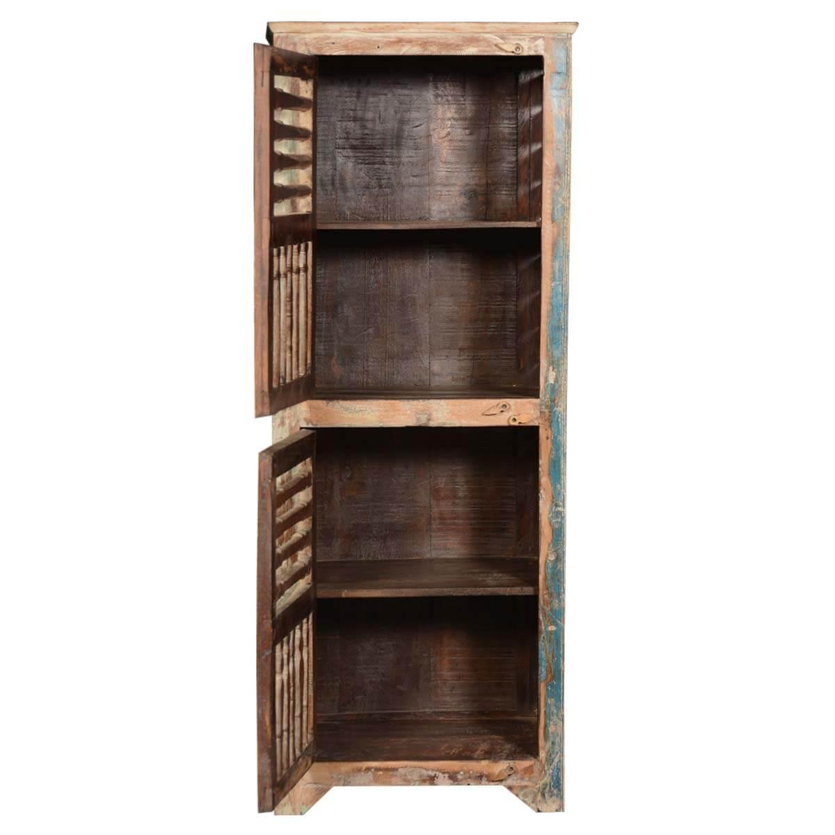 """Rustic Reclaimed Wood Shutter Door 60"""" Narrow Kitchen ..."""