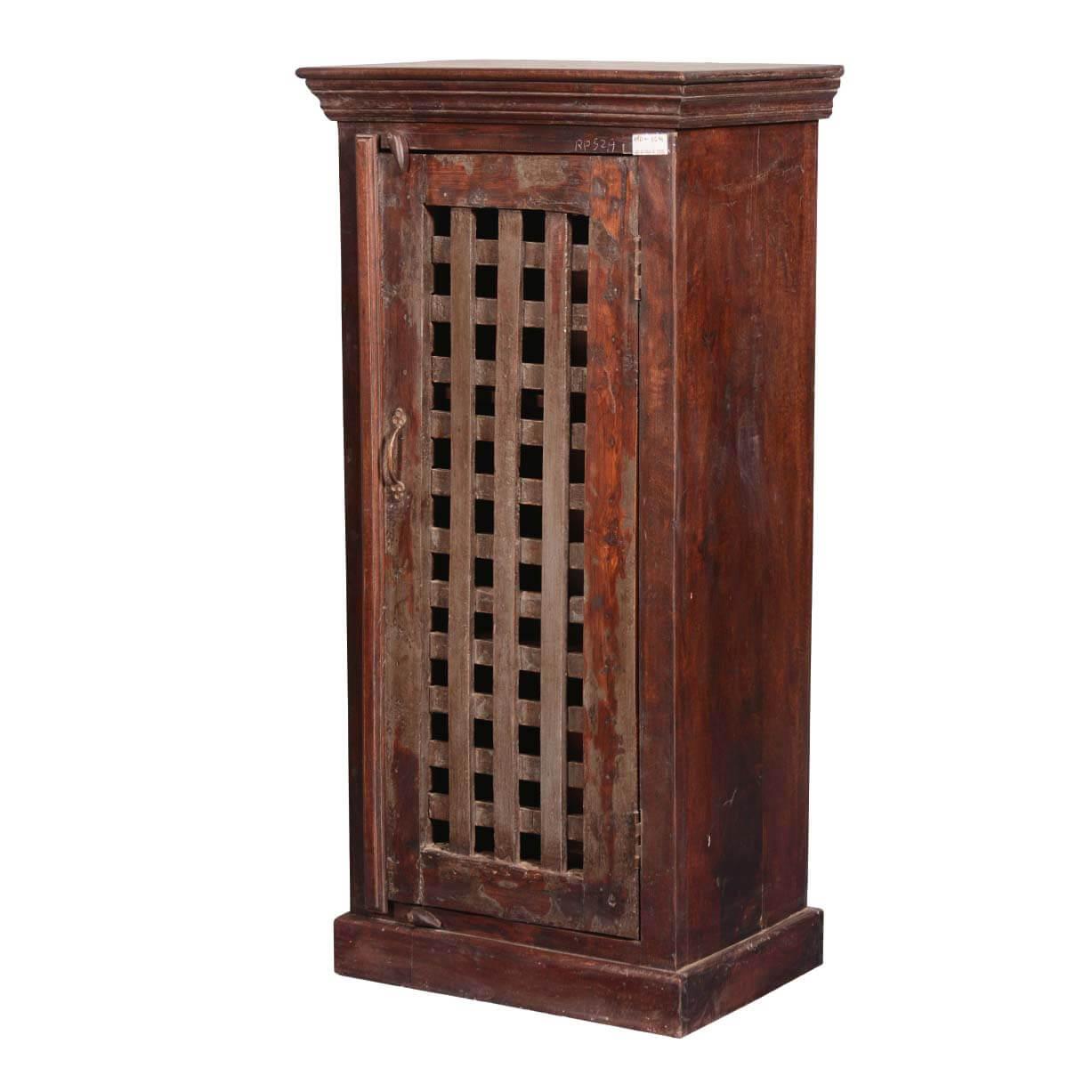 rustic storage cabinets. Lattice Door Reclaimed Wood Freestanding 49 Rustic Storage Cabinets A