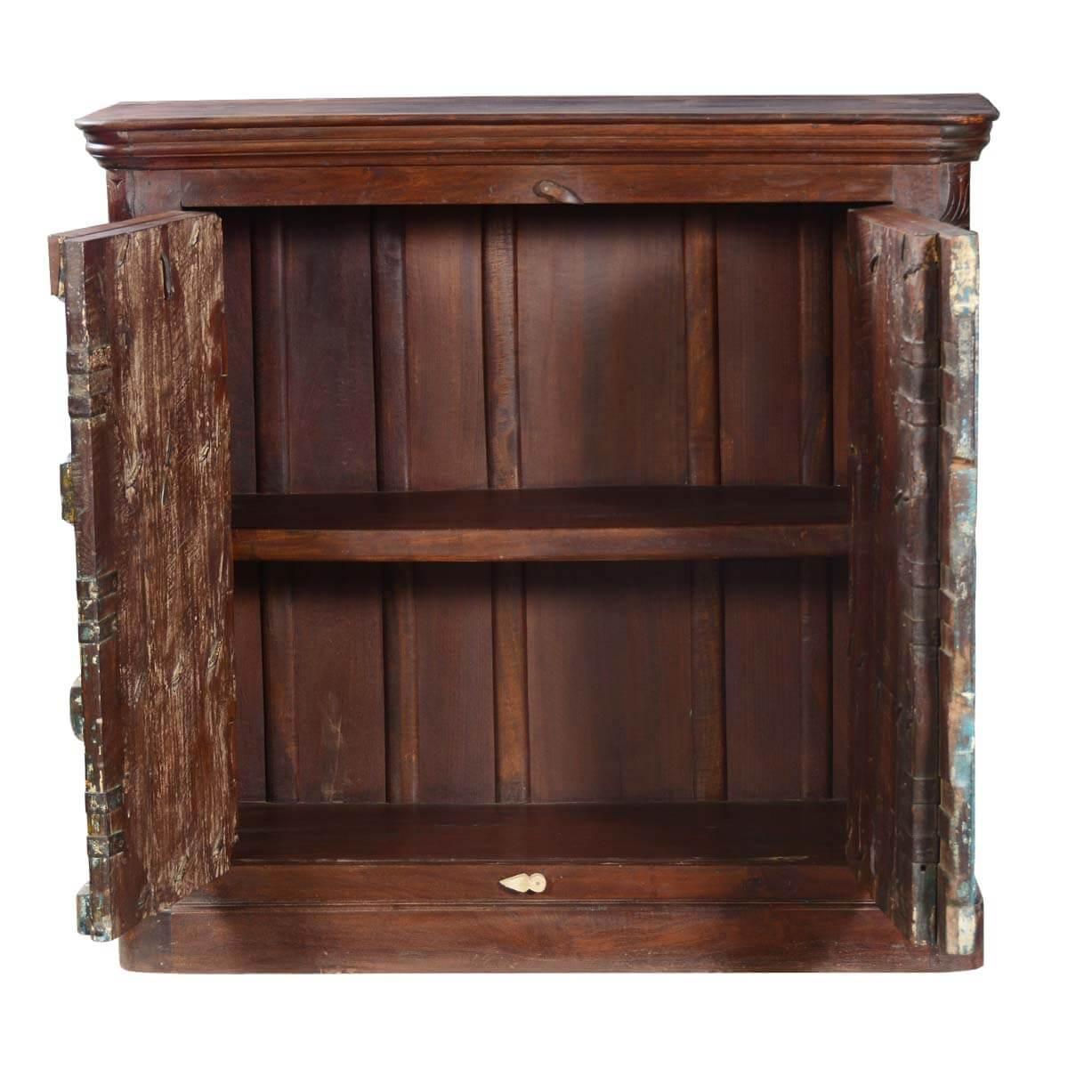 ... 50u201d Reclaimed Wood Storage Cabinet New Orleans Rustic Sideboard Buffet  ...
