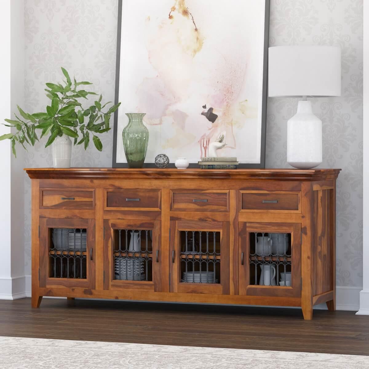 san francisco modern texas solid wood 4 drawer Buffets u0026 Sideboards Sierra Living