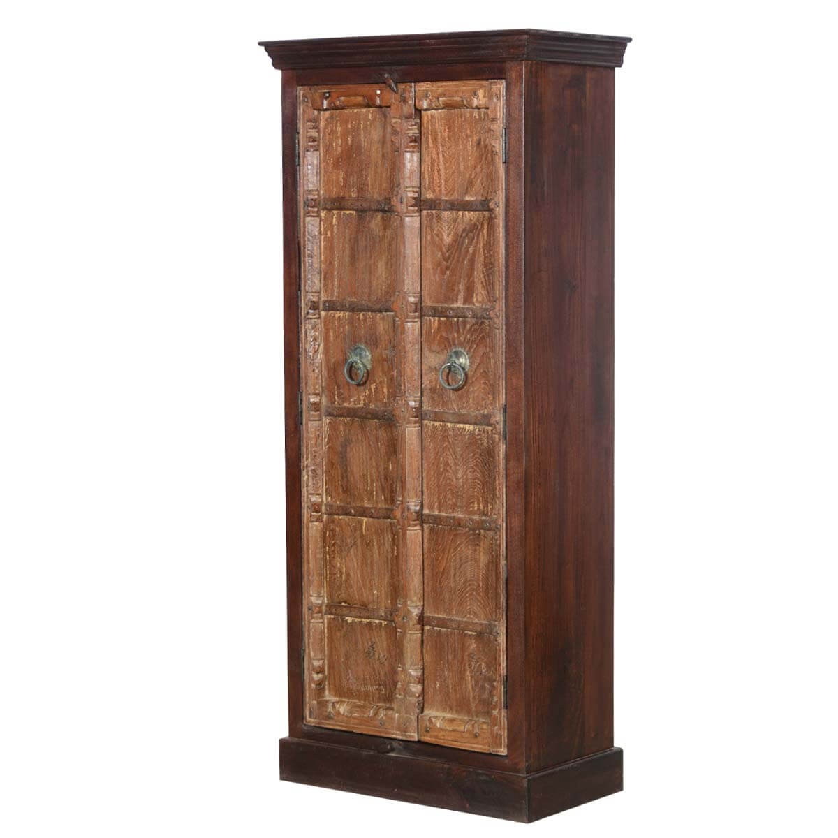 Rustic Motors 3d Custom Made Jewelry Home: Colfax Mango And Reclaimed Wood Rustic Tall Armoire