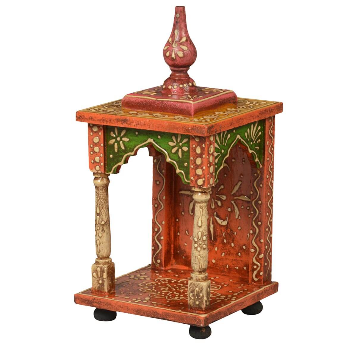Autumn Garden Mango Wood Small Table Top Temple