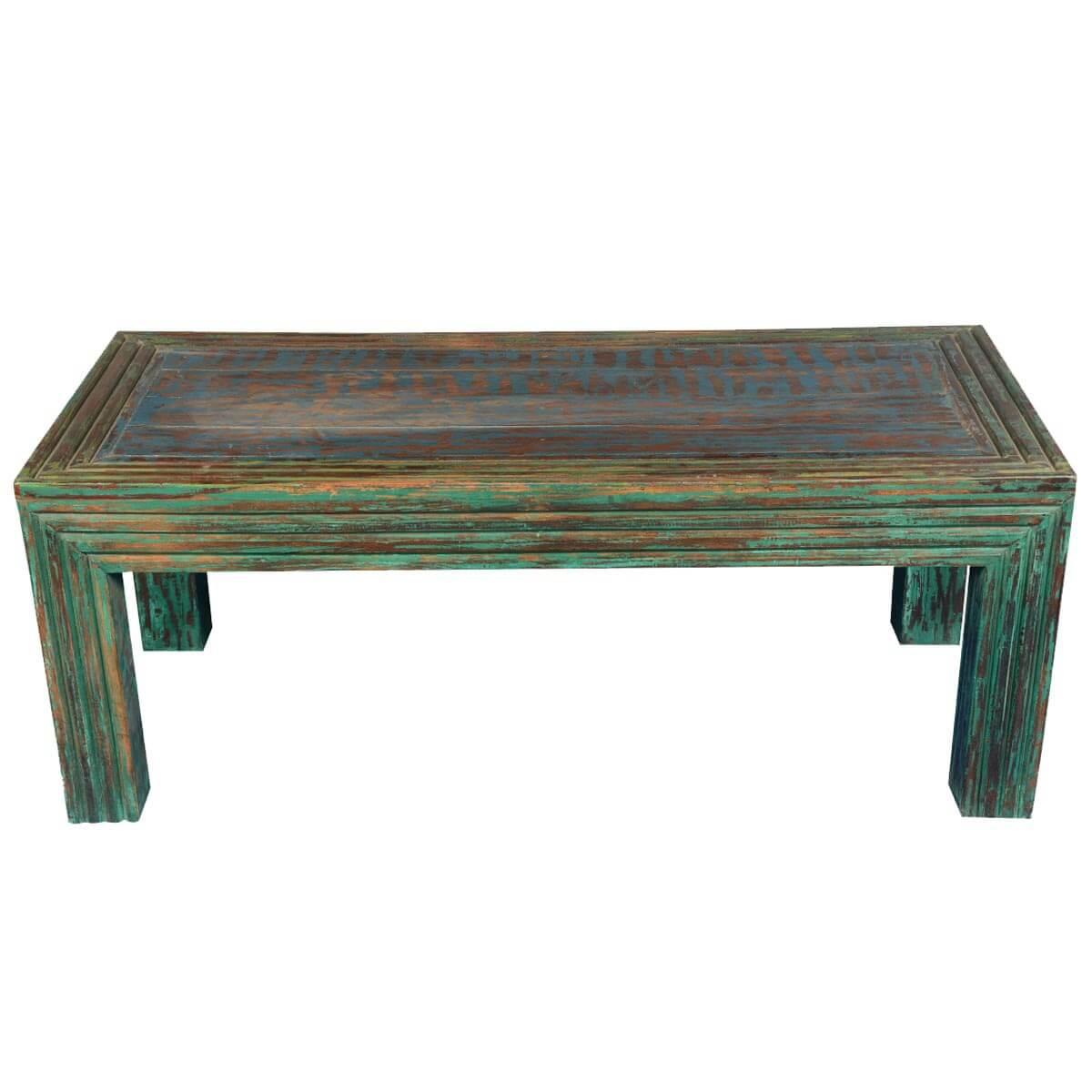 "Log Cabin Modern Reclaimed Wood 47.5"" Coffee Table"