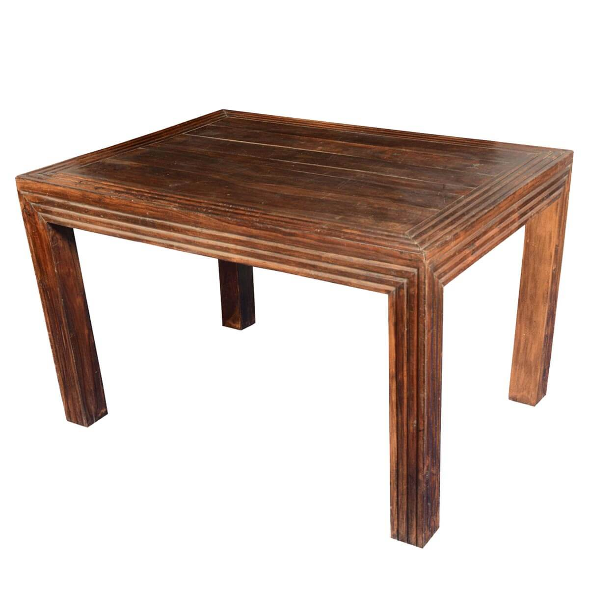 Sierra rustic handcrafted mango wood dining table - Handmade wooden dining tables ...