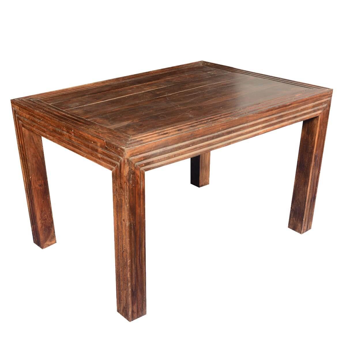 sierra rustic handcrafted mango wood dining table. Black Bedroom Furniture Sets. Home Design Ideas