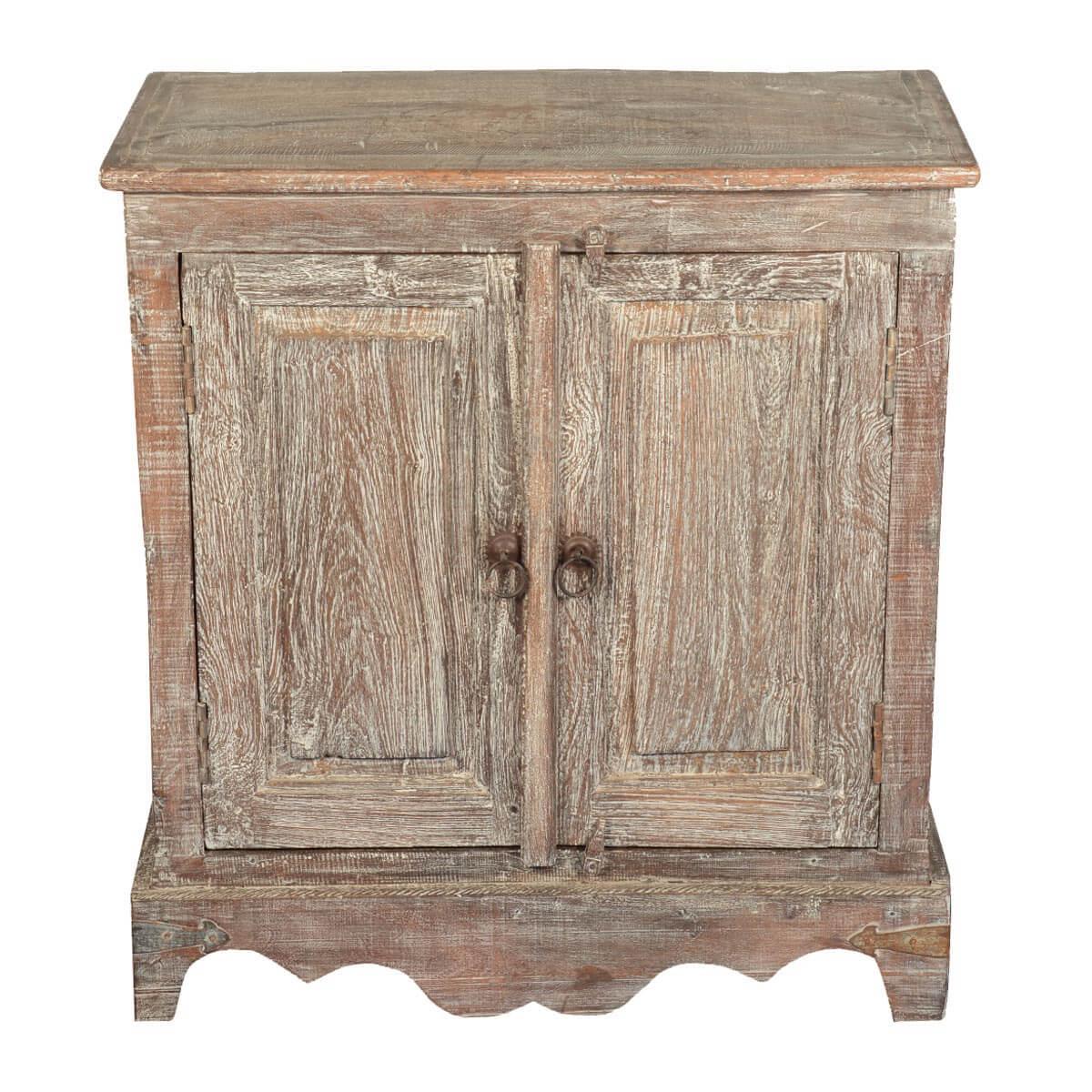 Dutch Rustic Reclaimed Wood 2-Door Cabinet