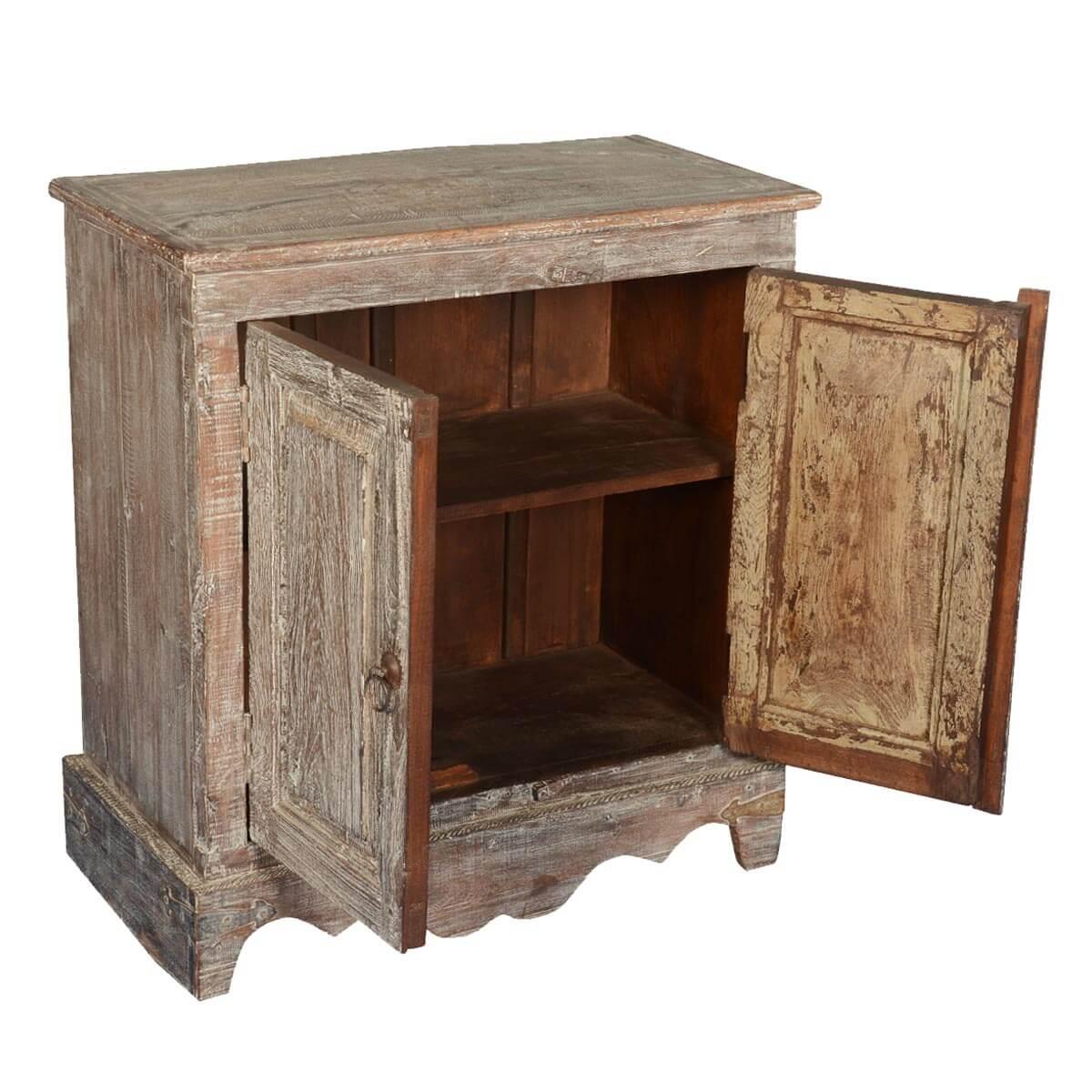 Pennsylvania Dutch Rustic Reclaimed Wood 2 Door Cabinet