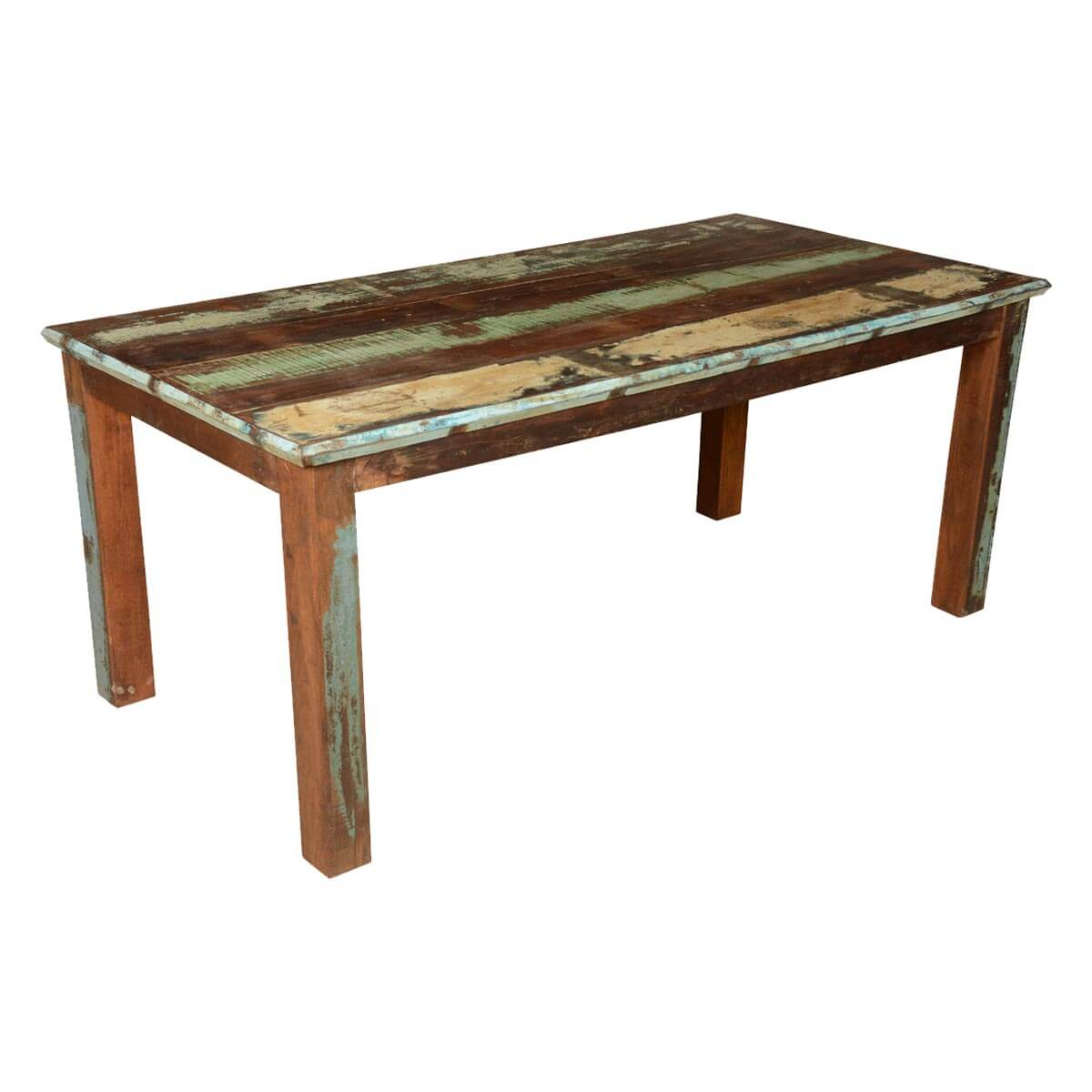 French Quarter Rustic Reclaimed Wood Striped Dining Table : 64132 from www.sierralivingconcepts.com size 1200 x 1200 jpeg 102kB