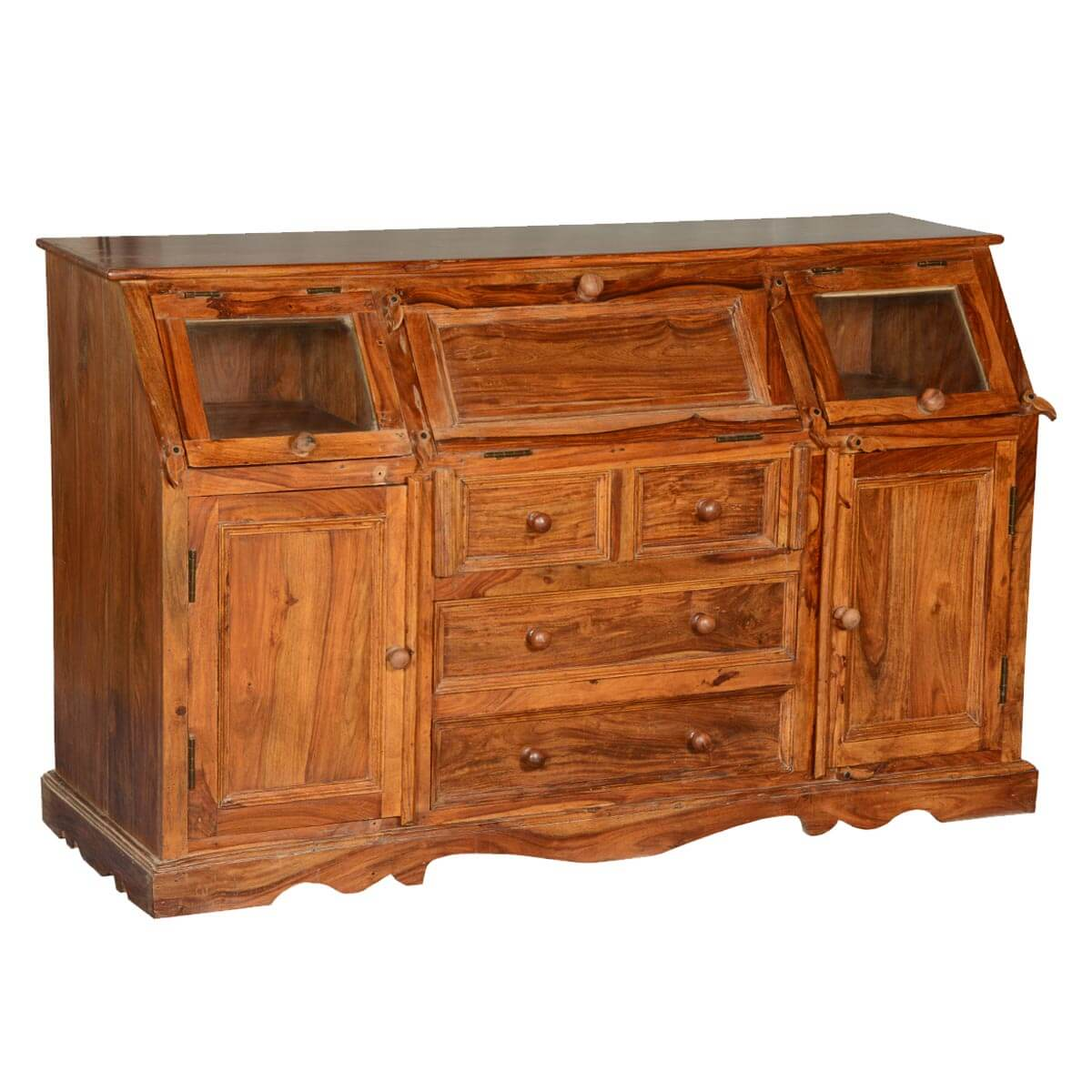 Clarington solid wood sideboard credenza with drawers