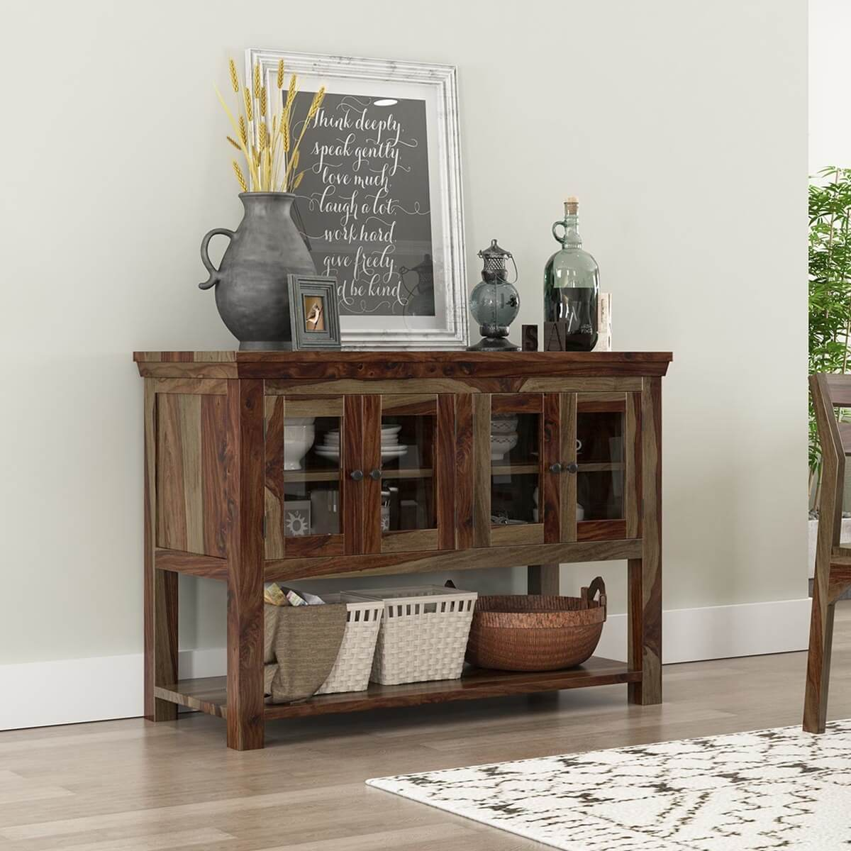 Modern Dining Room Natural Stain Buffet