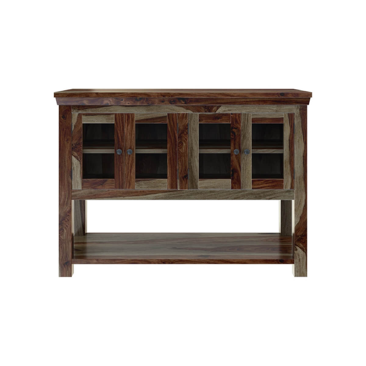 Modern Rustic Sierra Solid Wood Dining Buffet Table - Rustic Sierra Solid Wood Dining Buffet Table