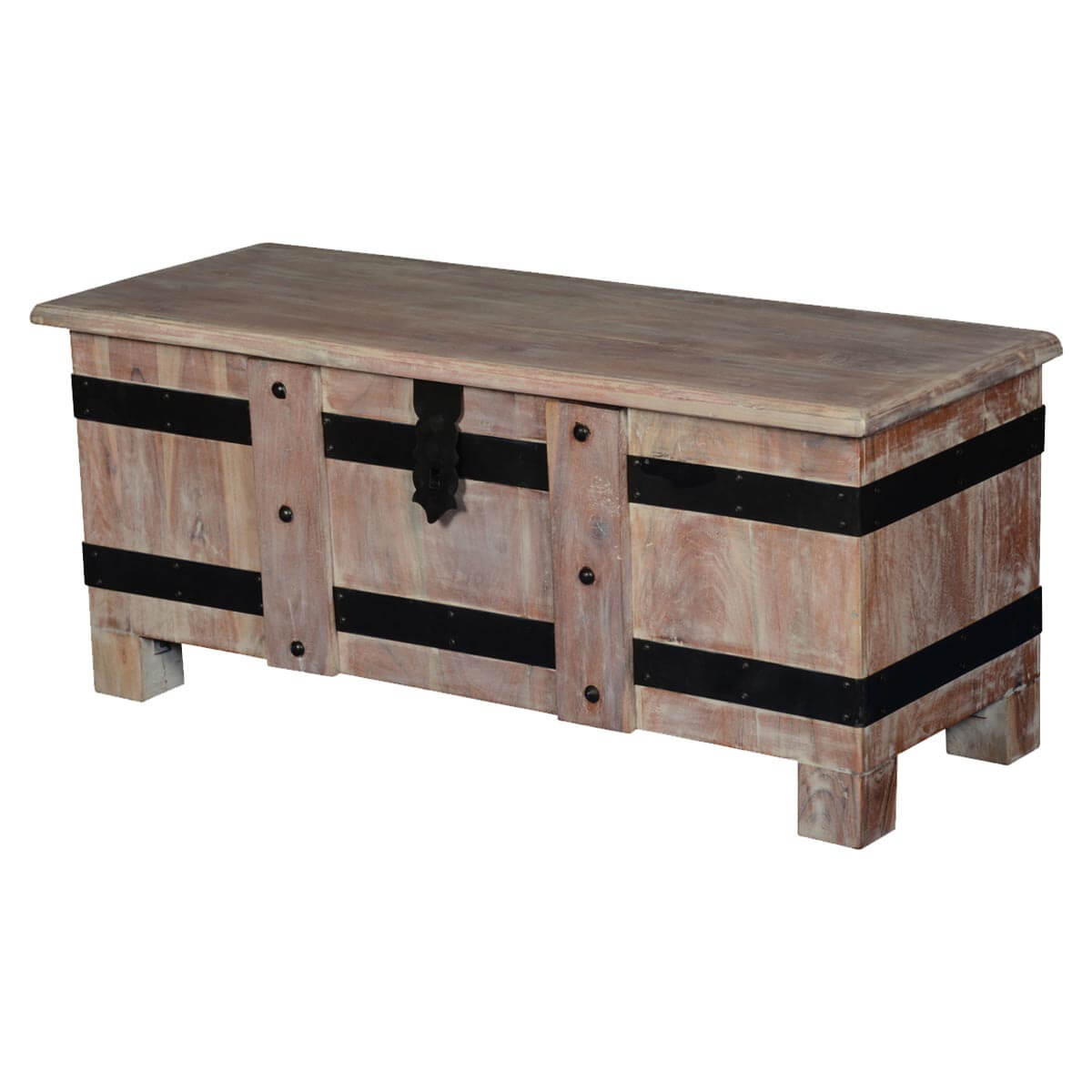 Gothic Mango Wood Standing Coffee Table Chest